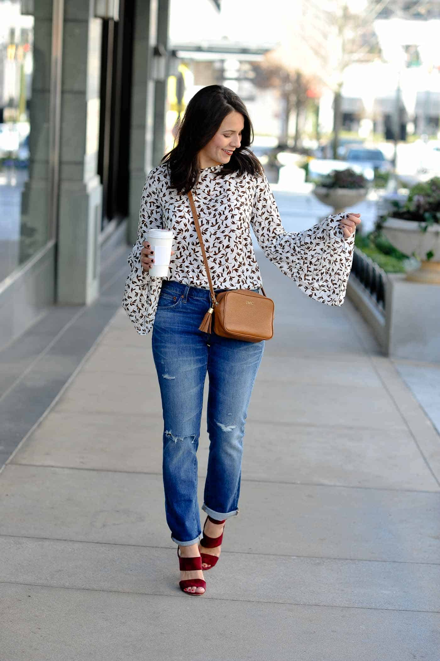 How To Style A Bell Sleeve Top, fall outfits - My Style Vita @mystylevita
