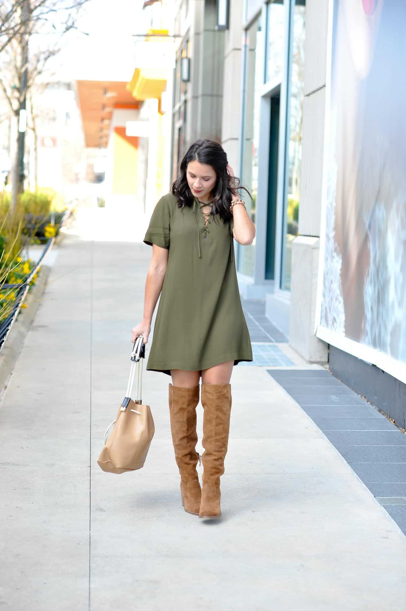 spring outfit ideas with boots - how to get the most out of your over the knee boots - My Style Vita @mystylevita