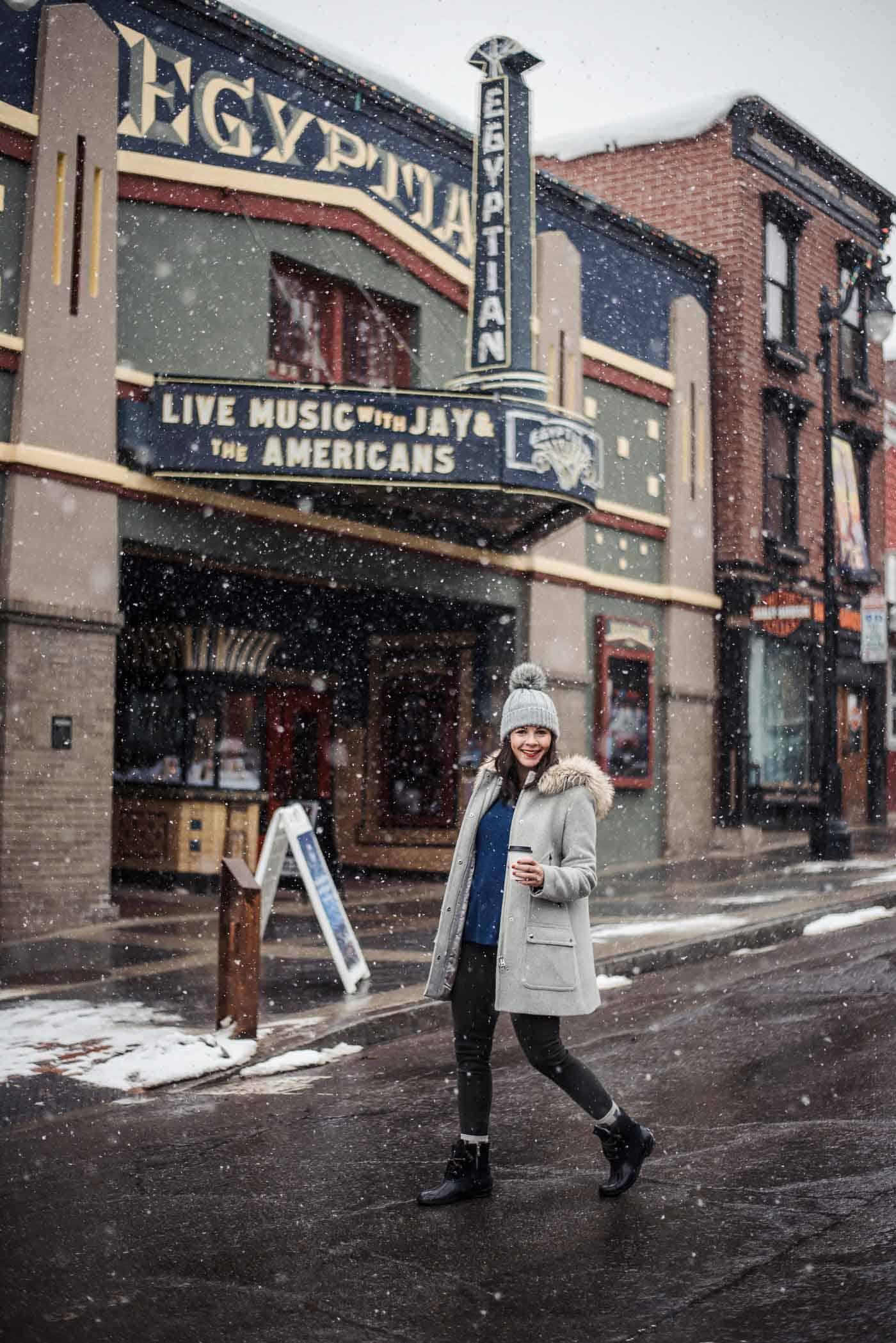 Winter outfit, Park City Utah, J Crew Chateau Parka