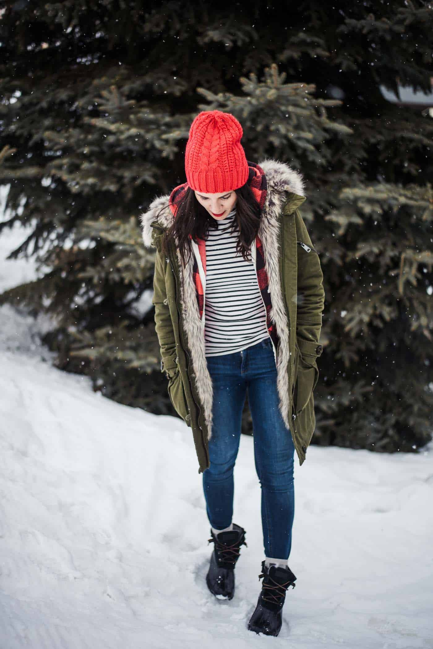 the best park city pizza, winter outfit ideas, how to style a parka - My Style Vita @mystylevita