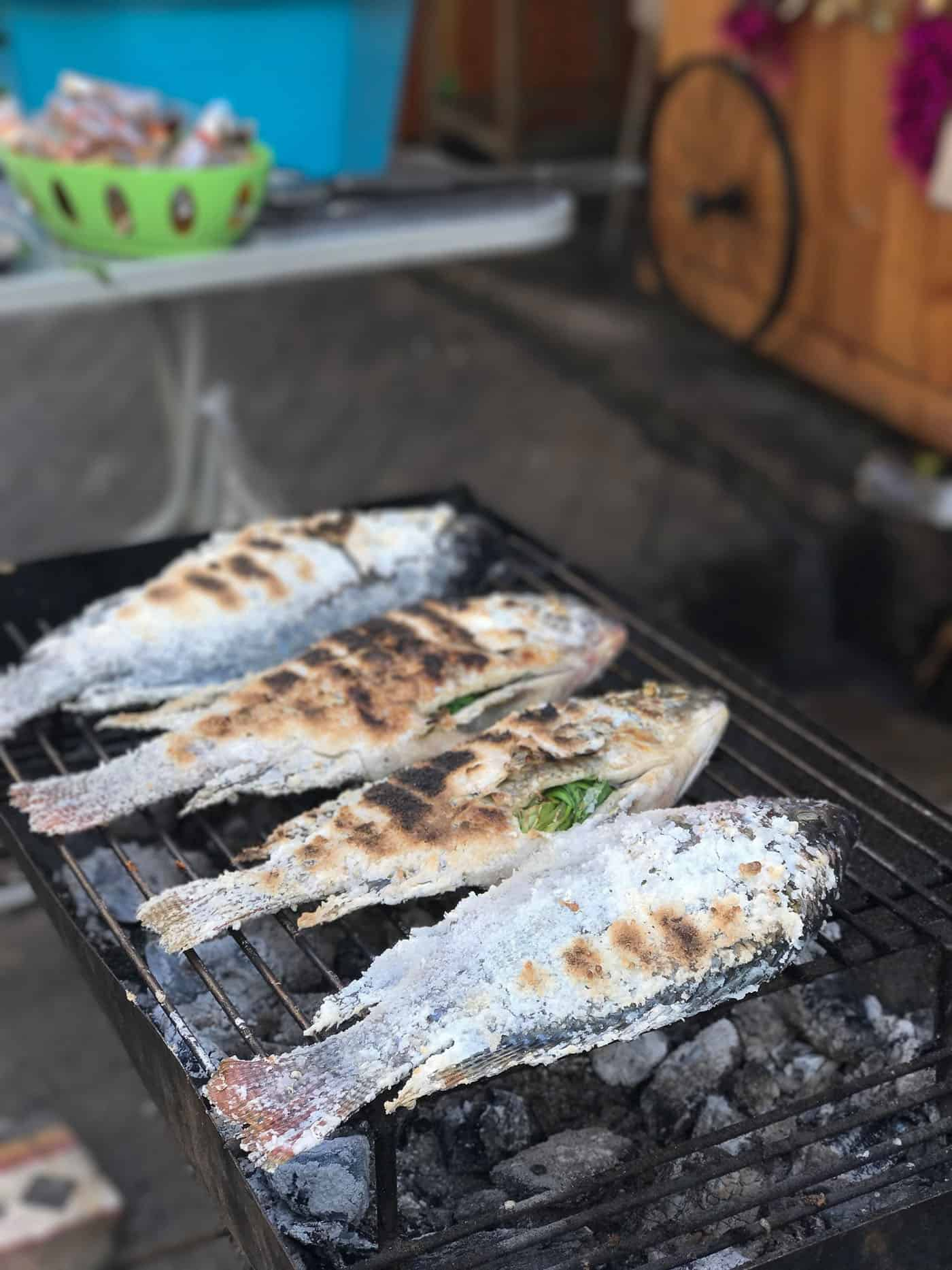 grilling fish in thailand