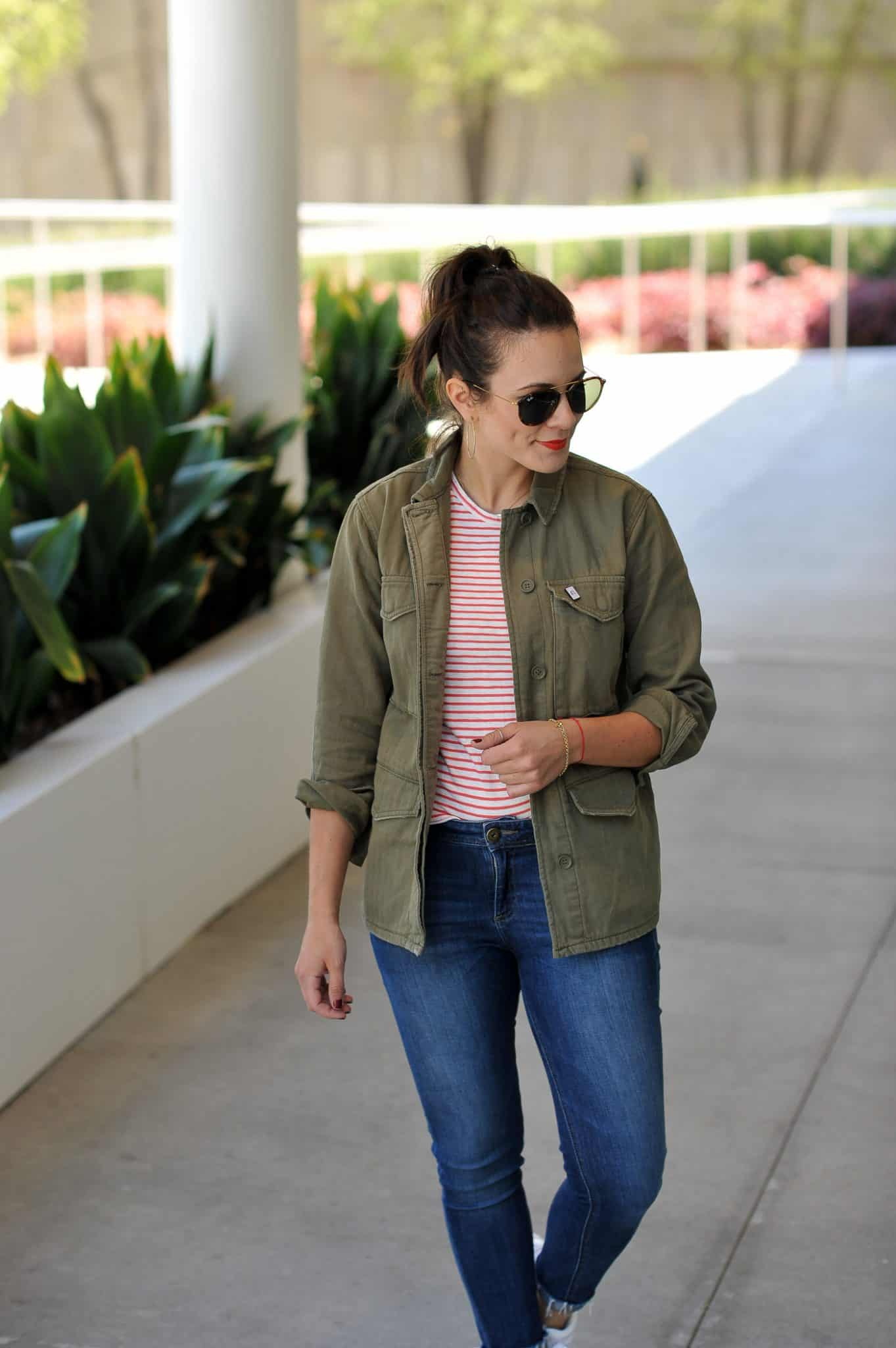 striped tee and jeans, classic outfits with denim - My Style Vita @mystylevita