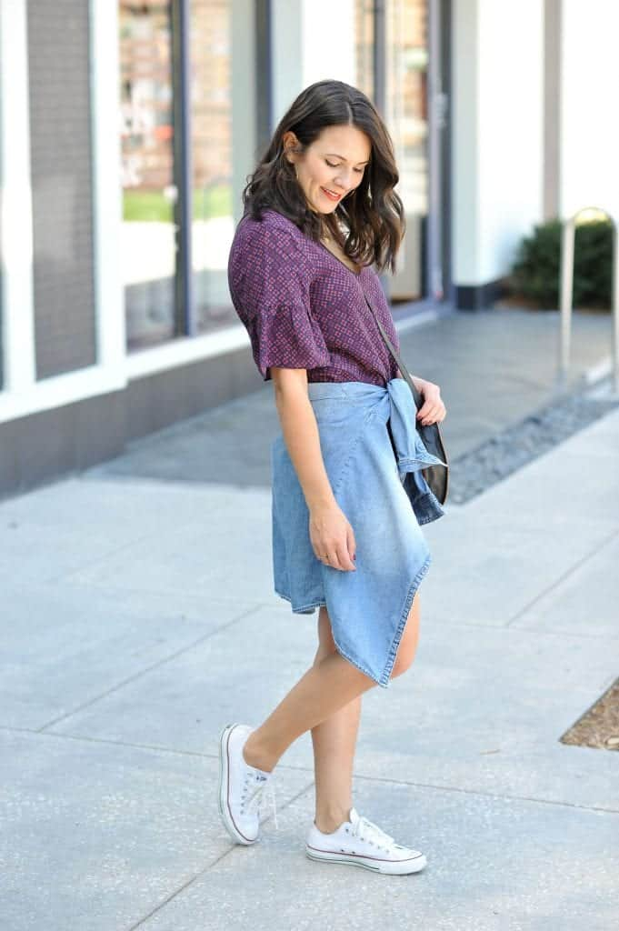 madewell dress and chucks
