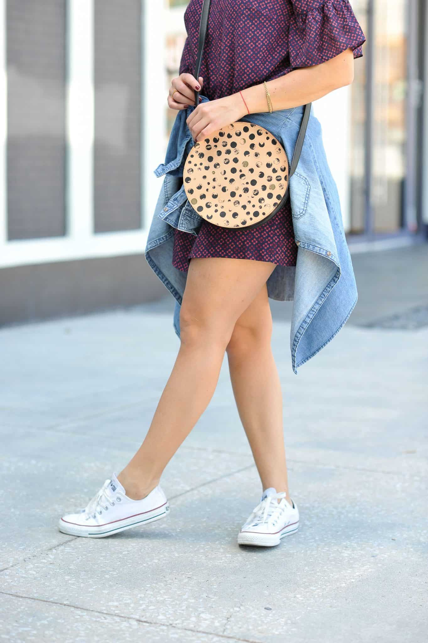 Ways to wear Converse sneakers, circle purse - My Style Vita @mystylevita