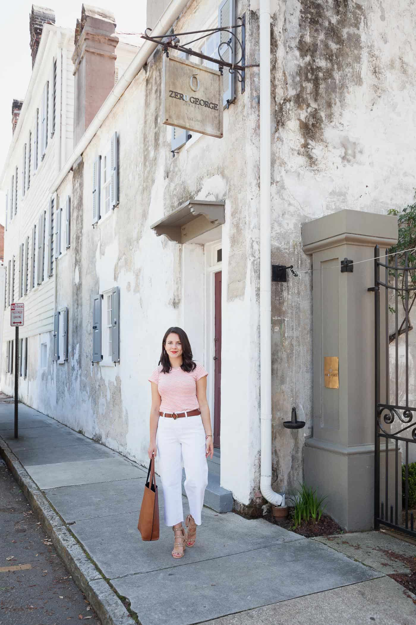 Wide leg cropped jeans, styling white jeans, summer heels - My Style Vita @mystylevita