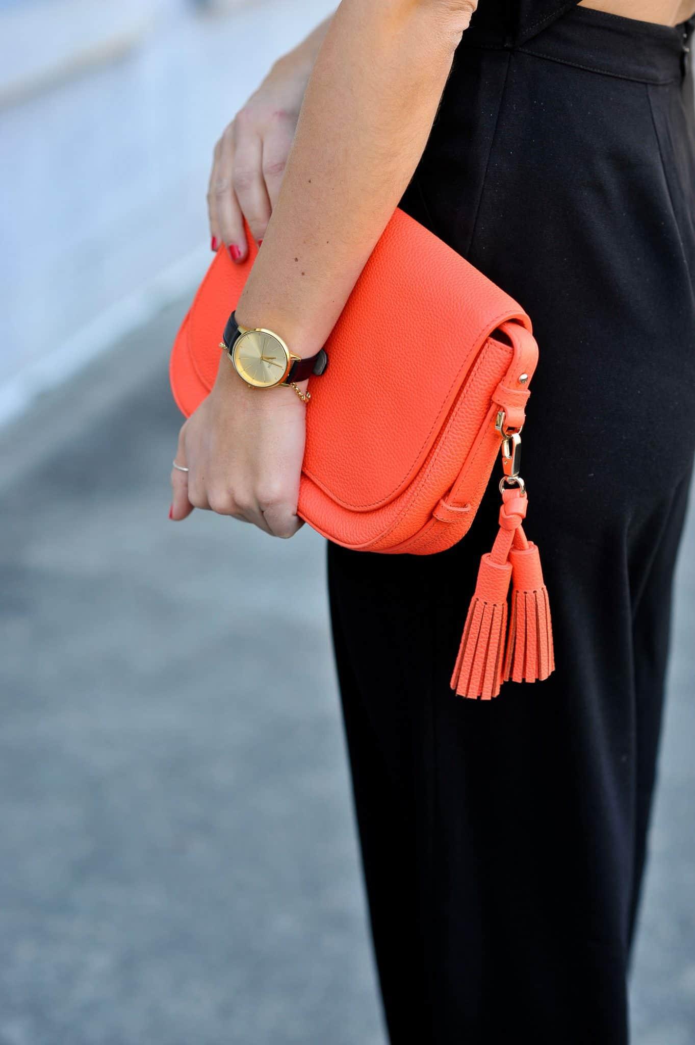 Kate Spade neon orange bag
