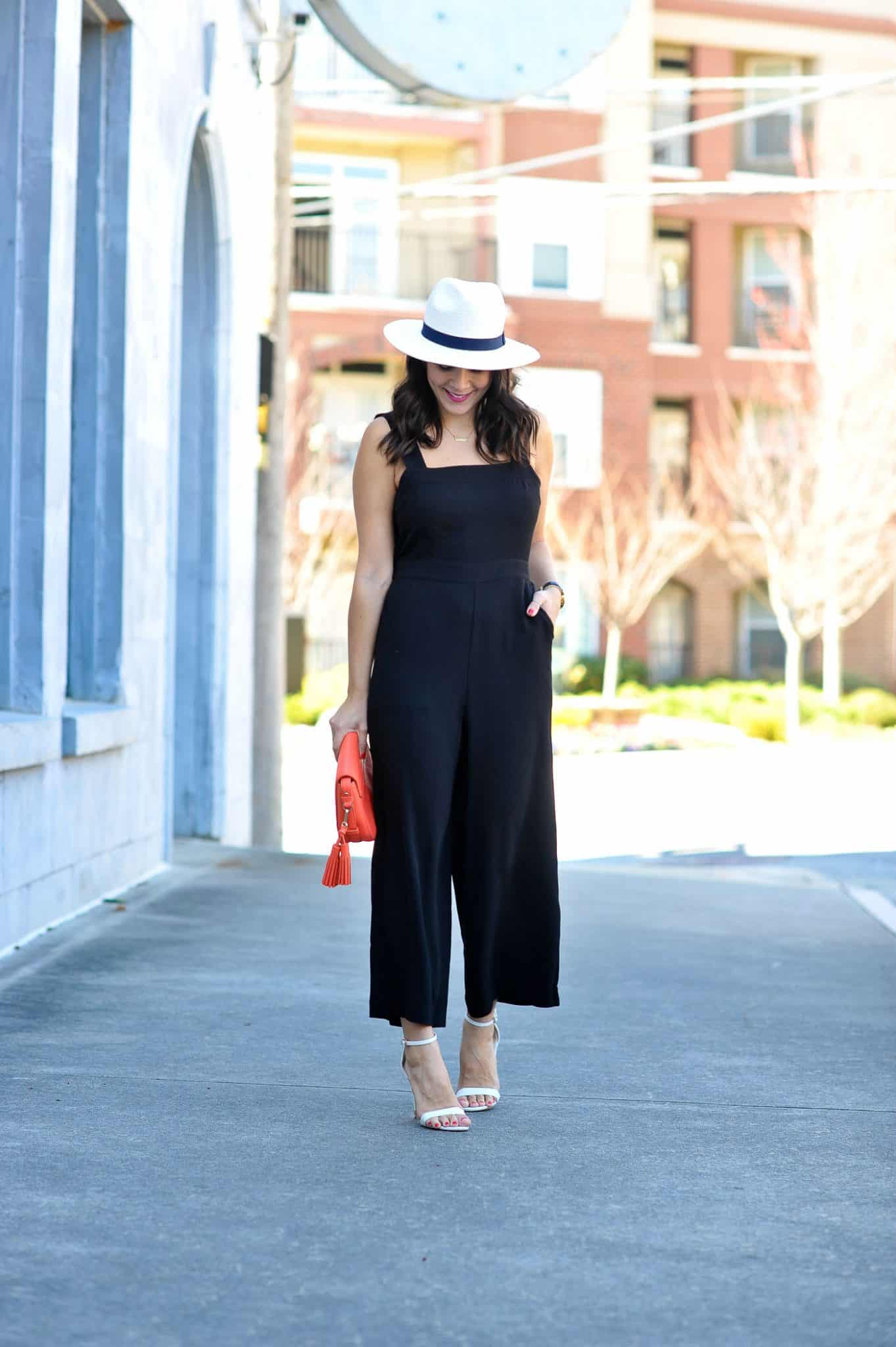 black madewell jumpsuit outfit