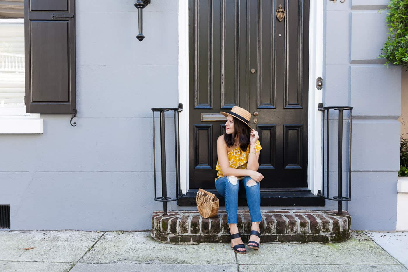 Yellow top for summer, Madewell one shoulder top - My Style Vita @mystylevita