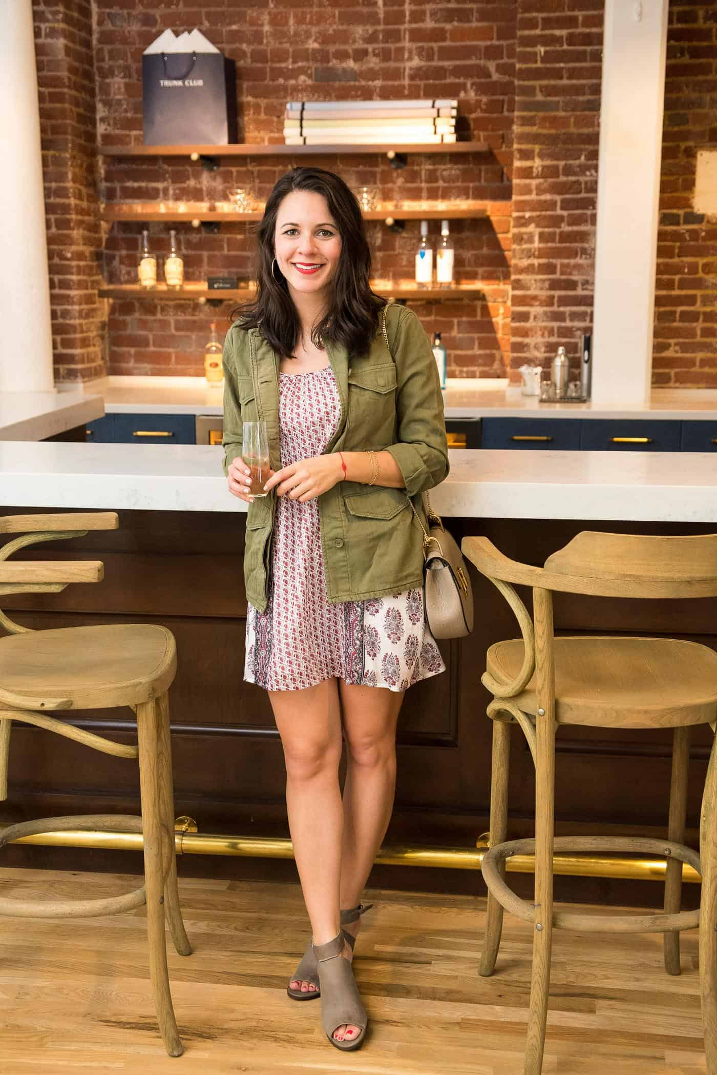 Festival outfit ideas with dresses, how to style a field jacket - My Style Vita @mystylevita