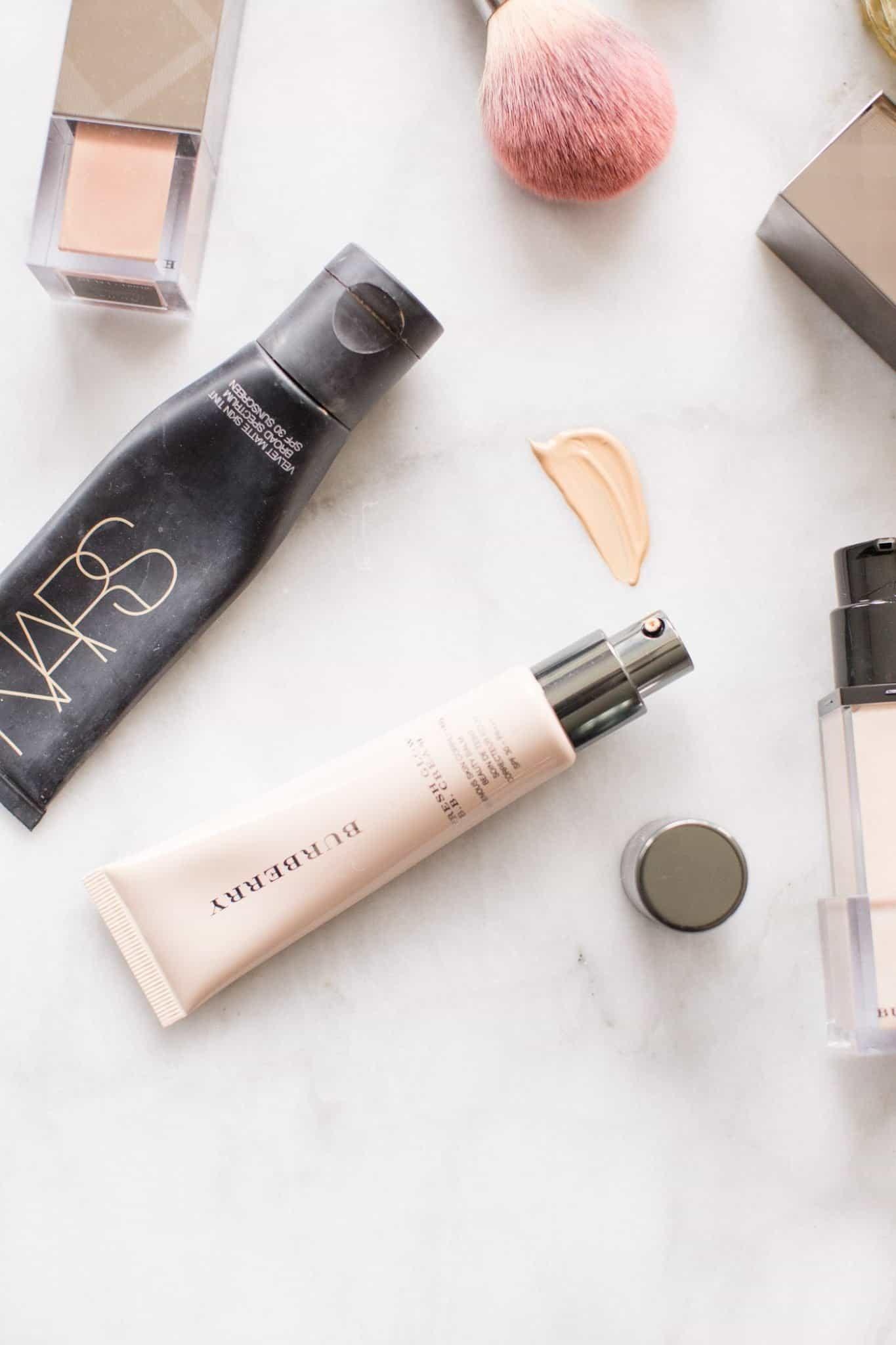 The best lightweight summer foundations, makeup flat lay - My Style Vita @mystylevita