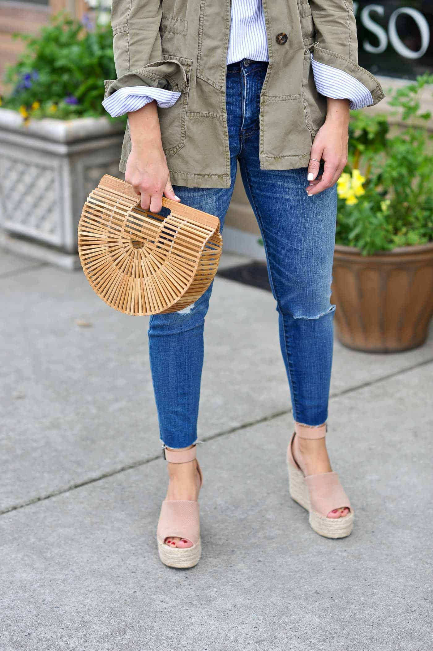 casual spring outfits with denim, cult gaia bag, and espadrilles - My Style Vita -@mystylevita