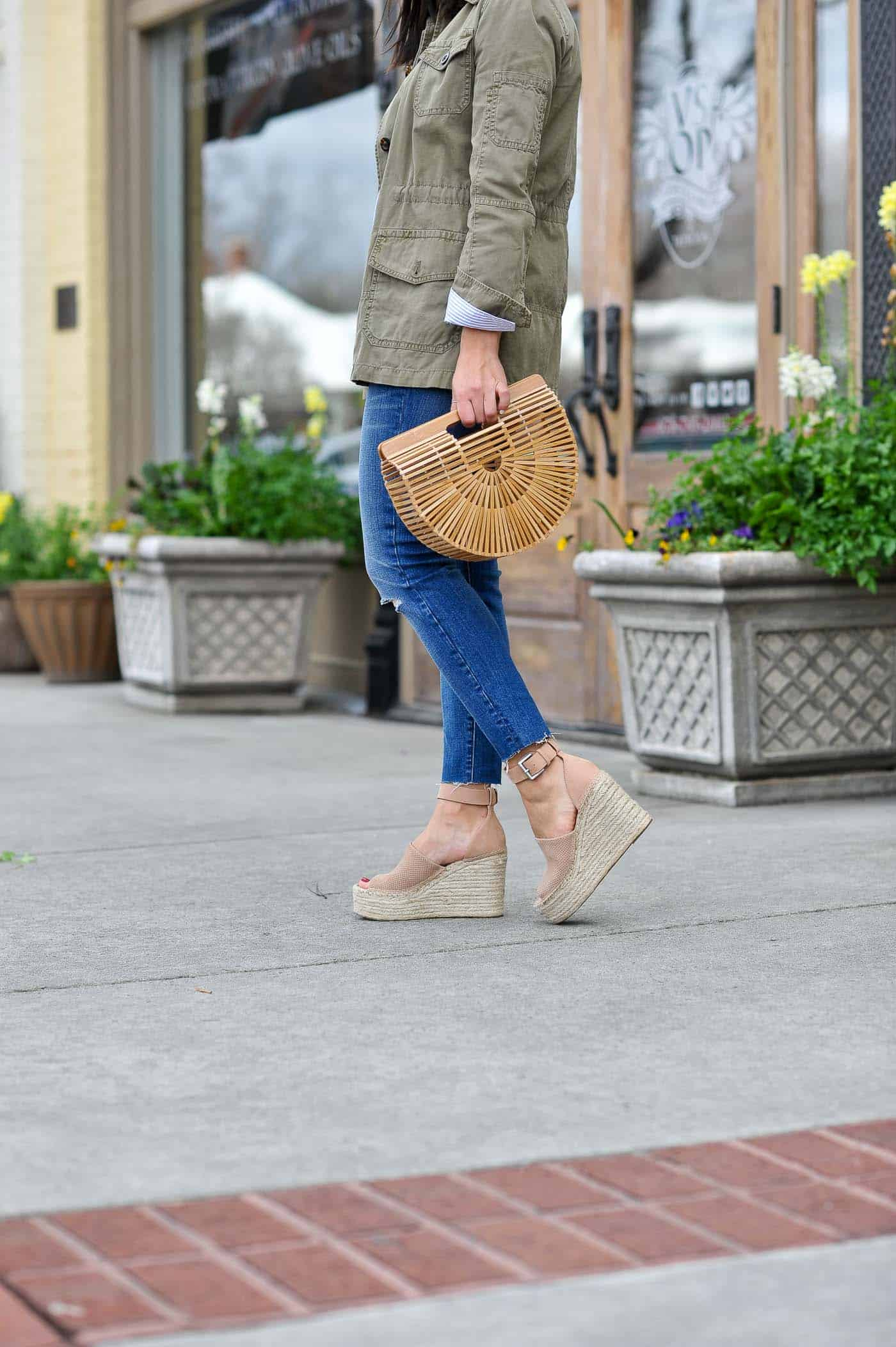 casual spring outfits with denim, and cult gaia bag - My Style Vita -@mystylevita