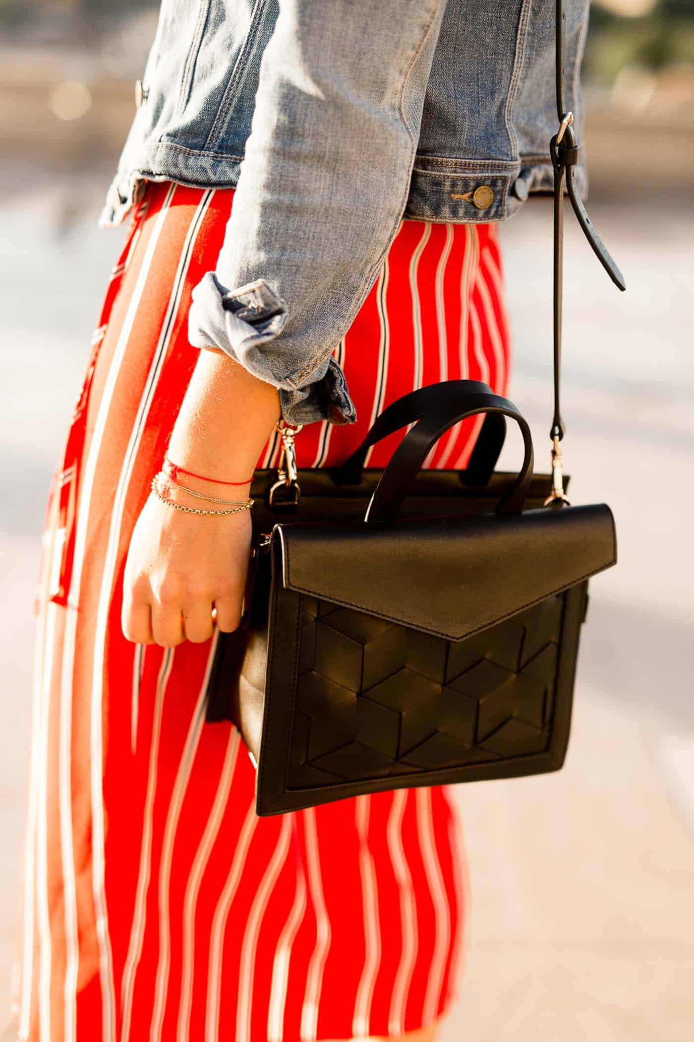 striped dress and black crossbody bag - what to wear in paris - My Style Vita @mystylevita