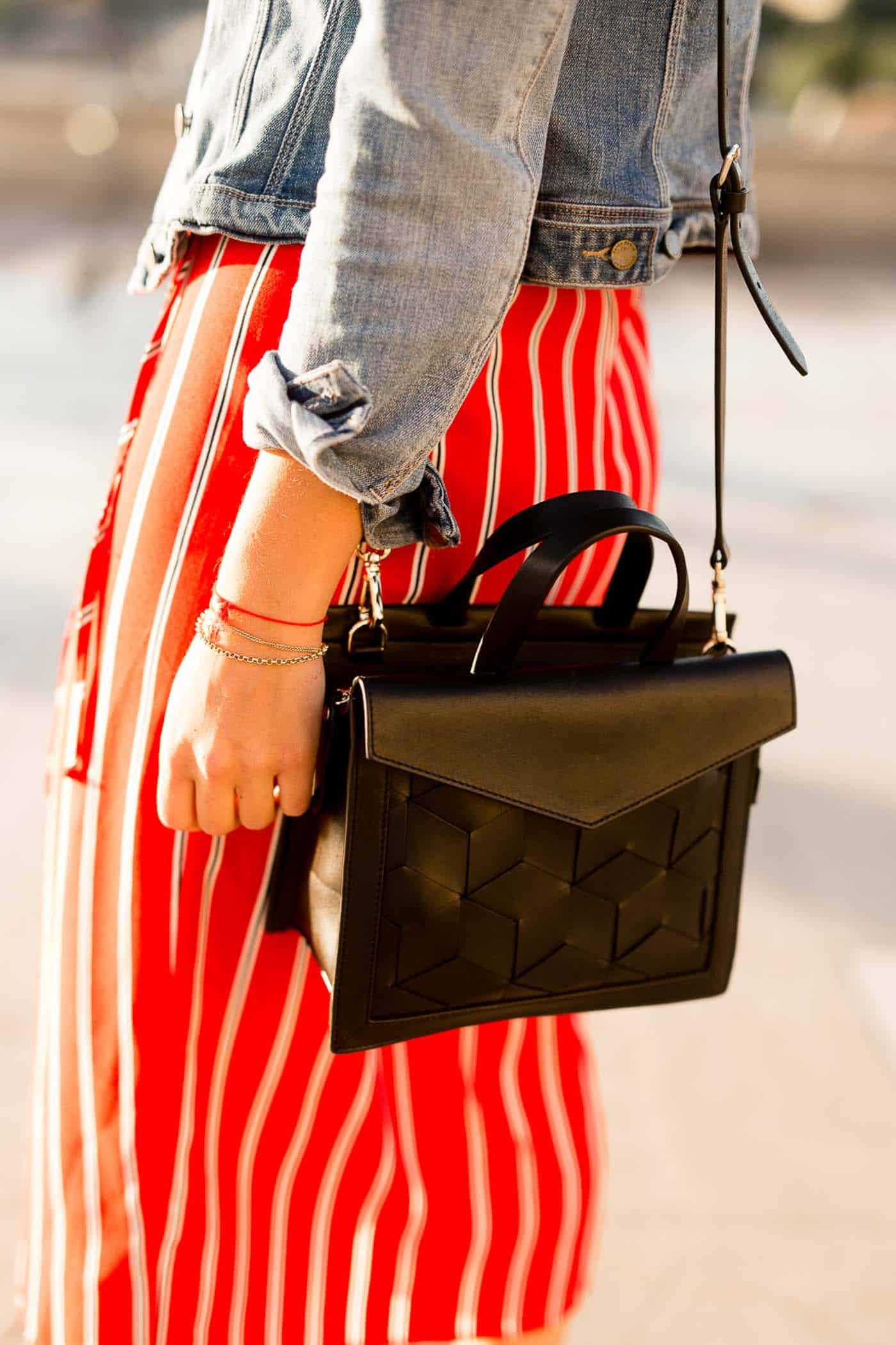 striped dress and black crossbody bag - what to wear in paris - My Style Vita @mystylevita