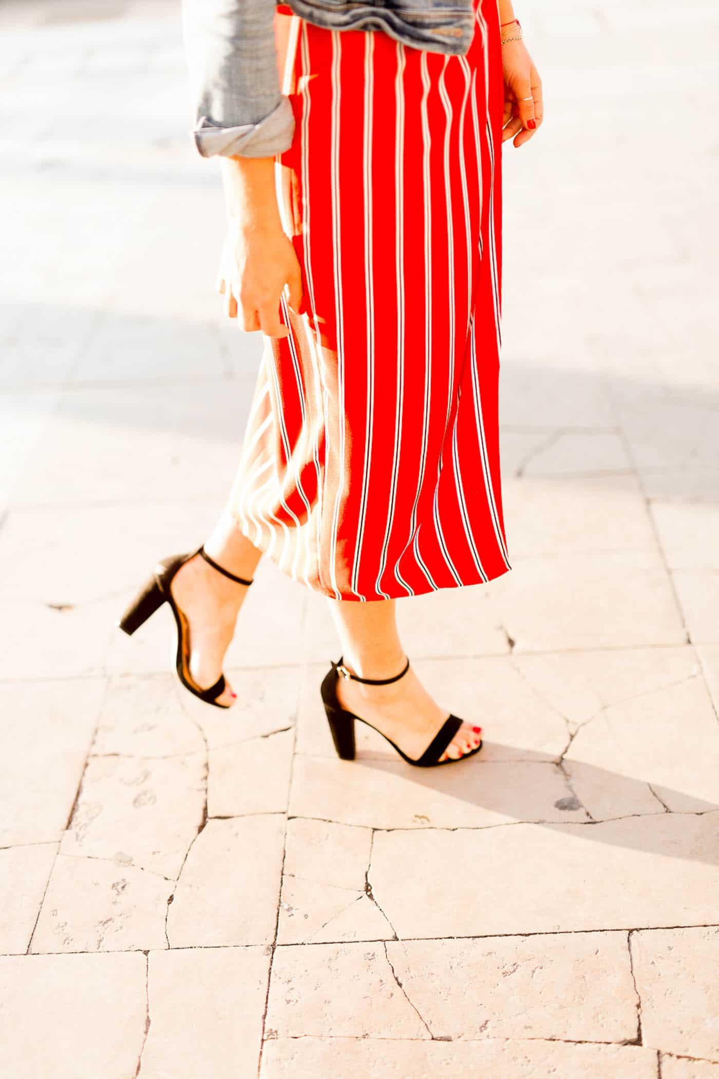 striped dress and black heels, My Style Vita @mystylevita