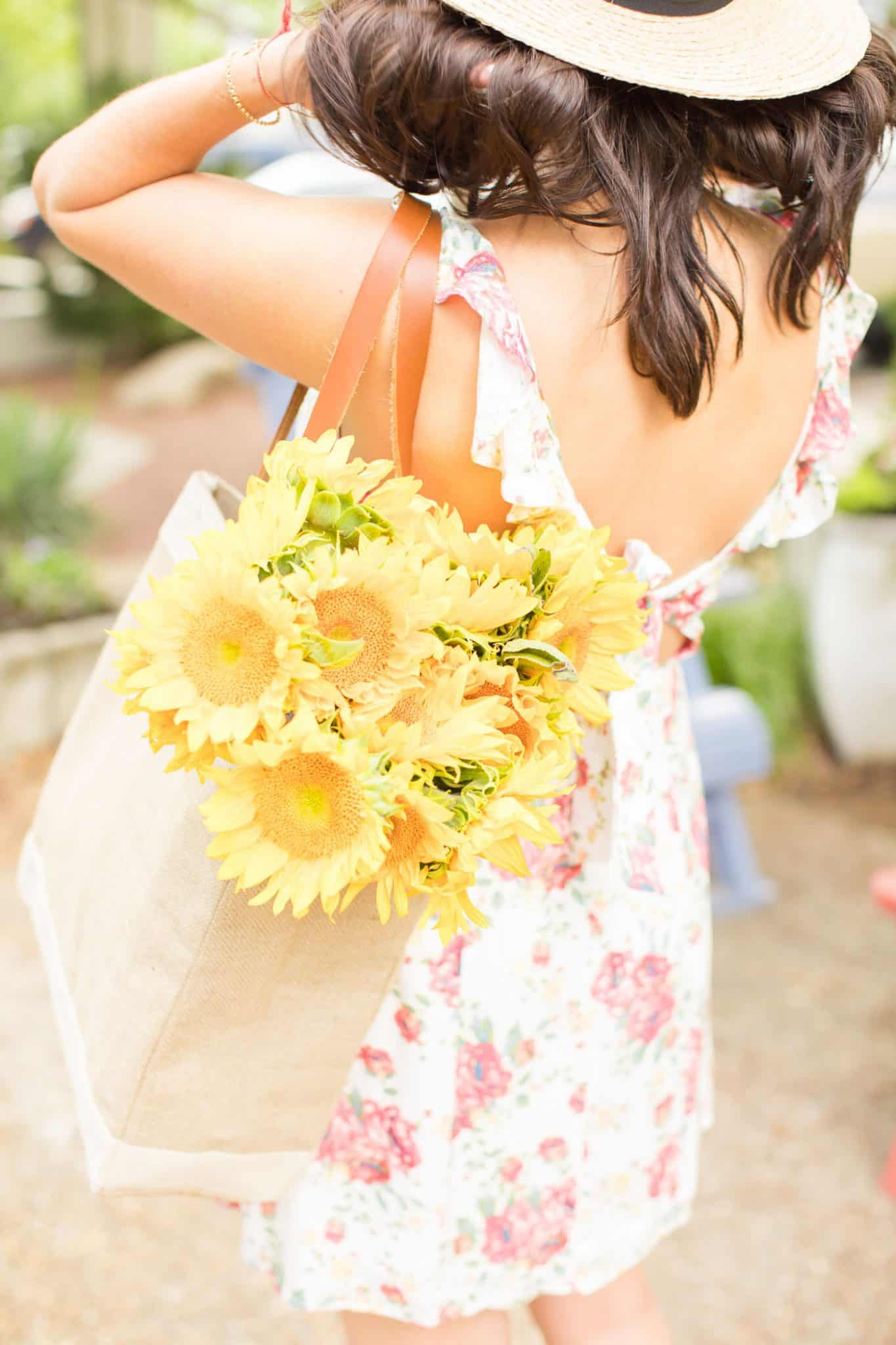 floral dress, summer outfits, sunflowers - My Style Vita @mystylevita