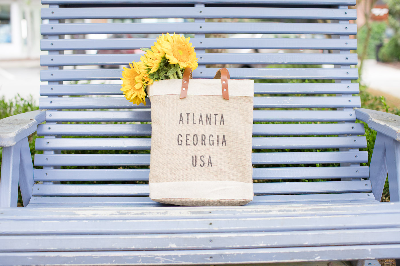 tote bag with flowers, apolis bag, sunflowers - My Style Vita @mystylevita