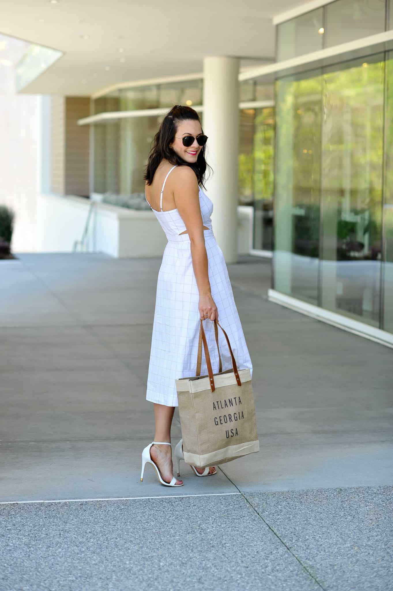 White midi dress for summer - My Style Vita @mystylevita