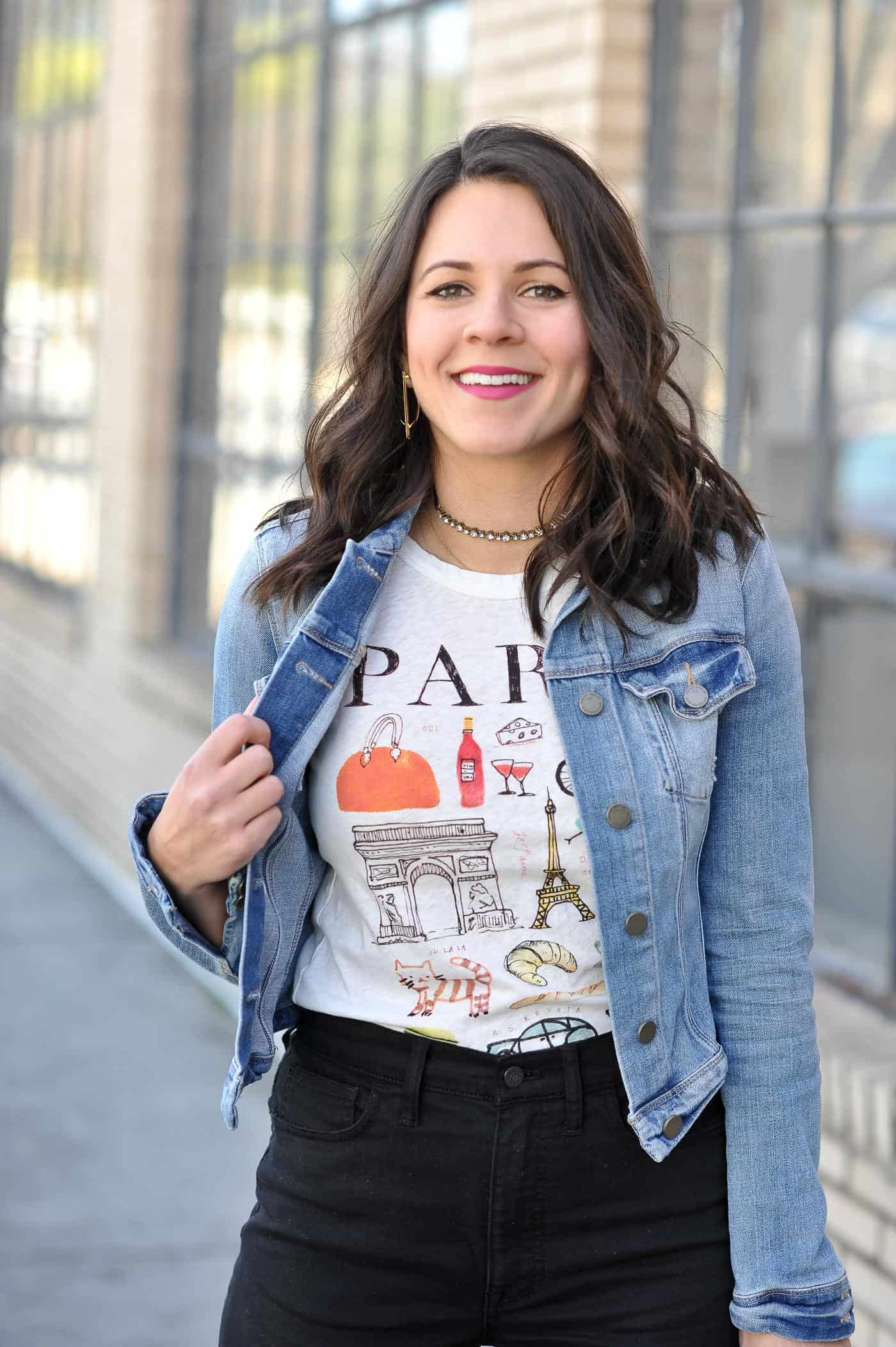 Paris graphic tee - My Style Vita @mystylevita