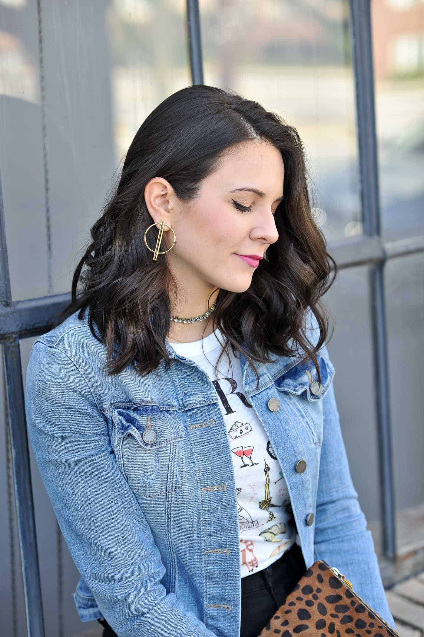 short hair and gold jewelry - My Style Vita @mystylevita