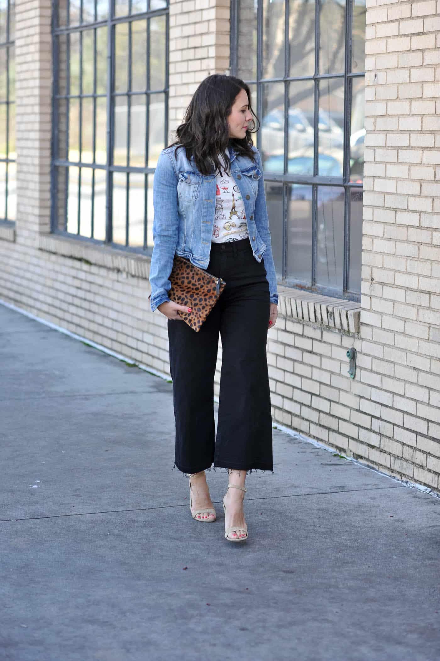styling wide cropped jeans - My Style Vita @mystylevita