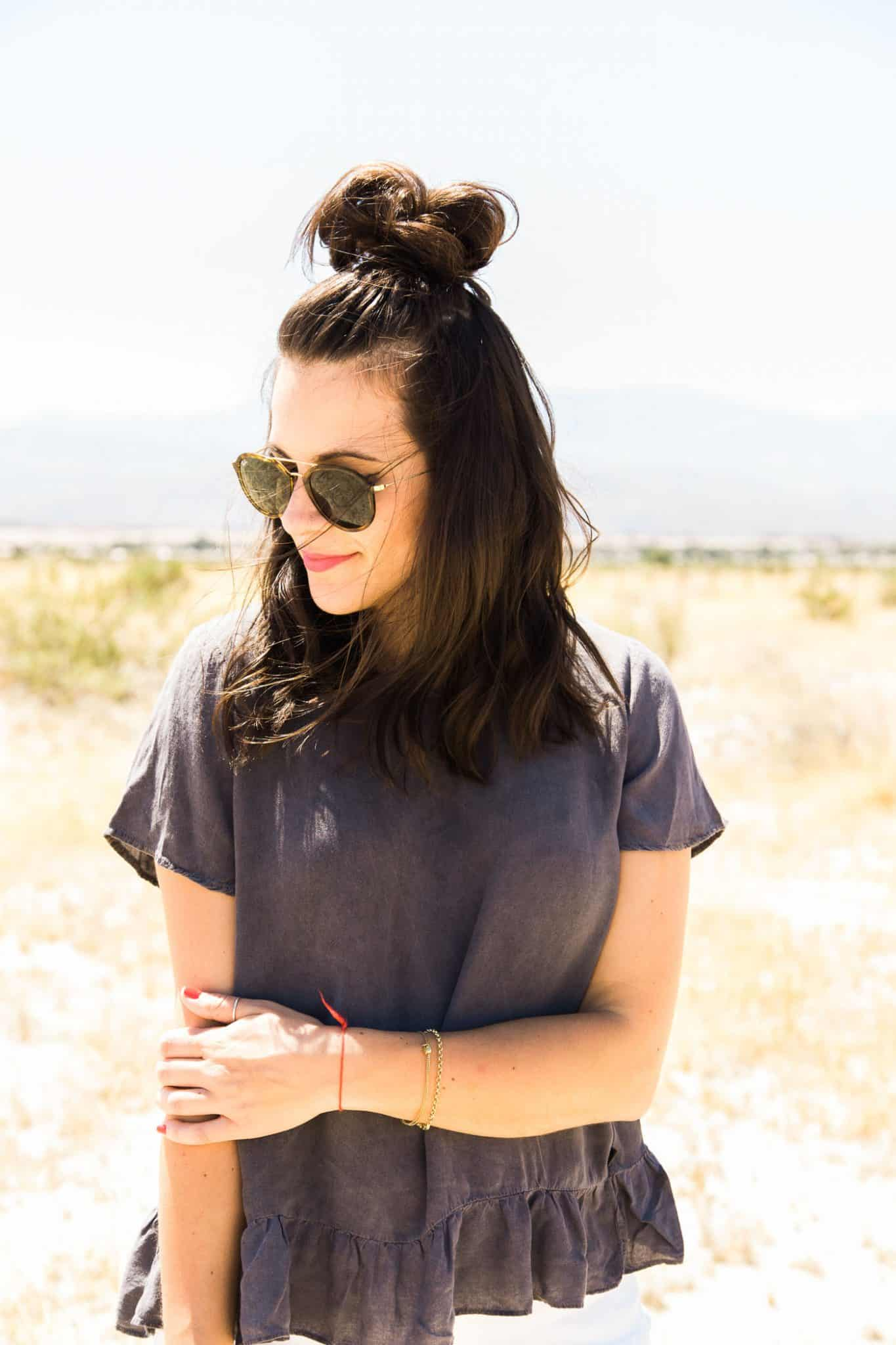 What to wear to a music festival - top knot - desert photoshoot - My Style Vita @mystylevita
