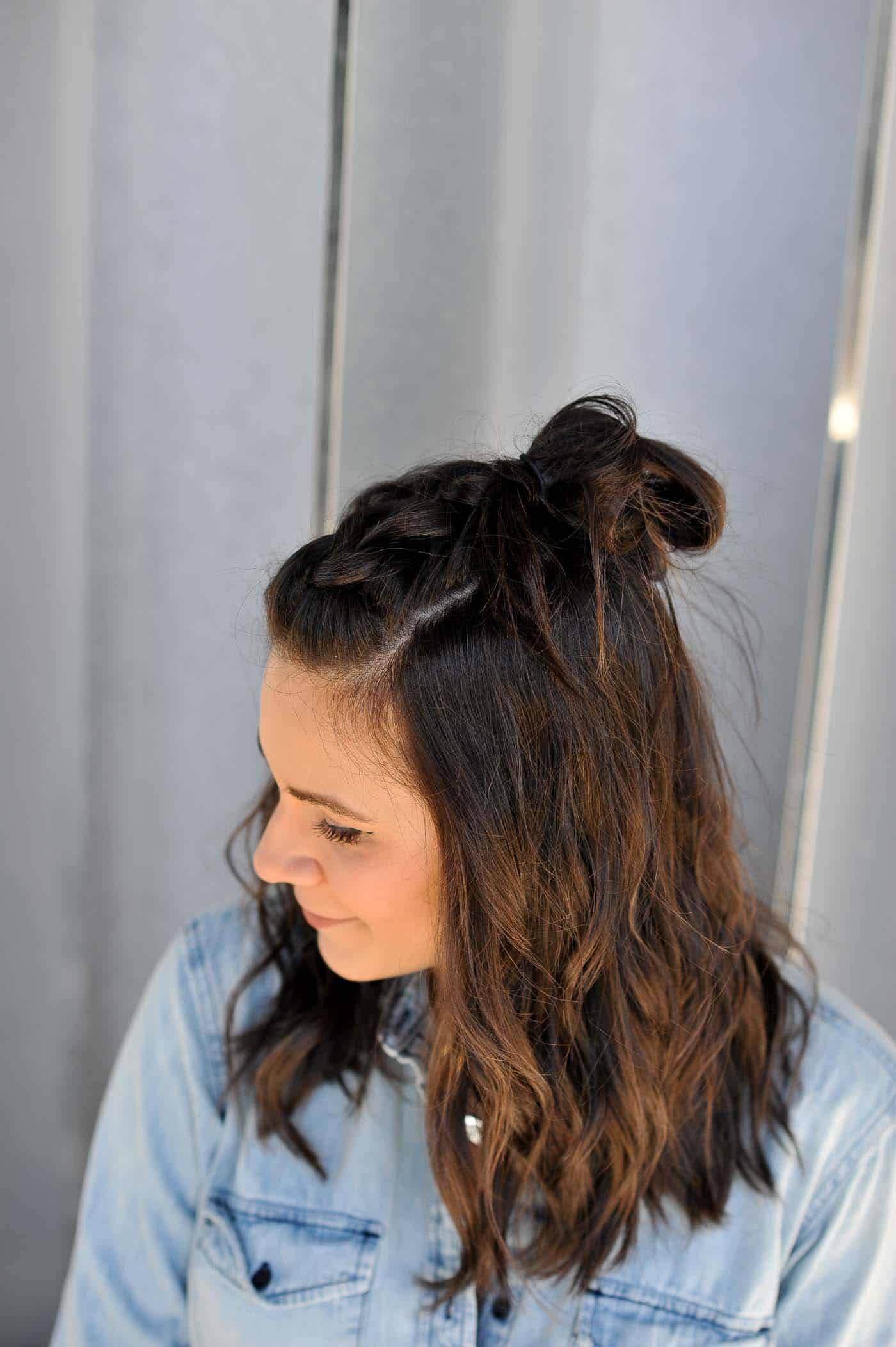 braided half up half down hairstyle - how to braid your hair - My Style Vita @mystylevita