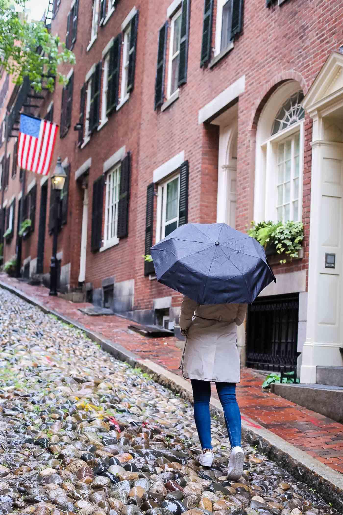 acorn street boston, most instagrammable street in boston, things to do in boston