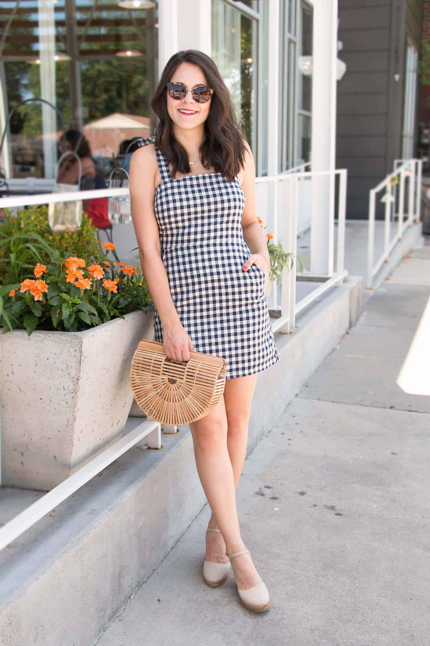 affordable gingham dress, gingham outfit, summer outfit ideas - My Style Vita @mystylevita