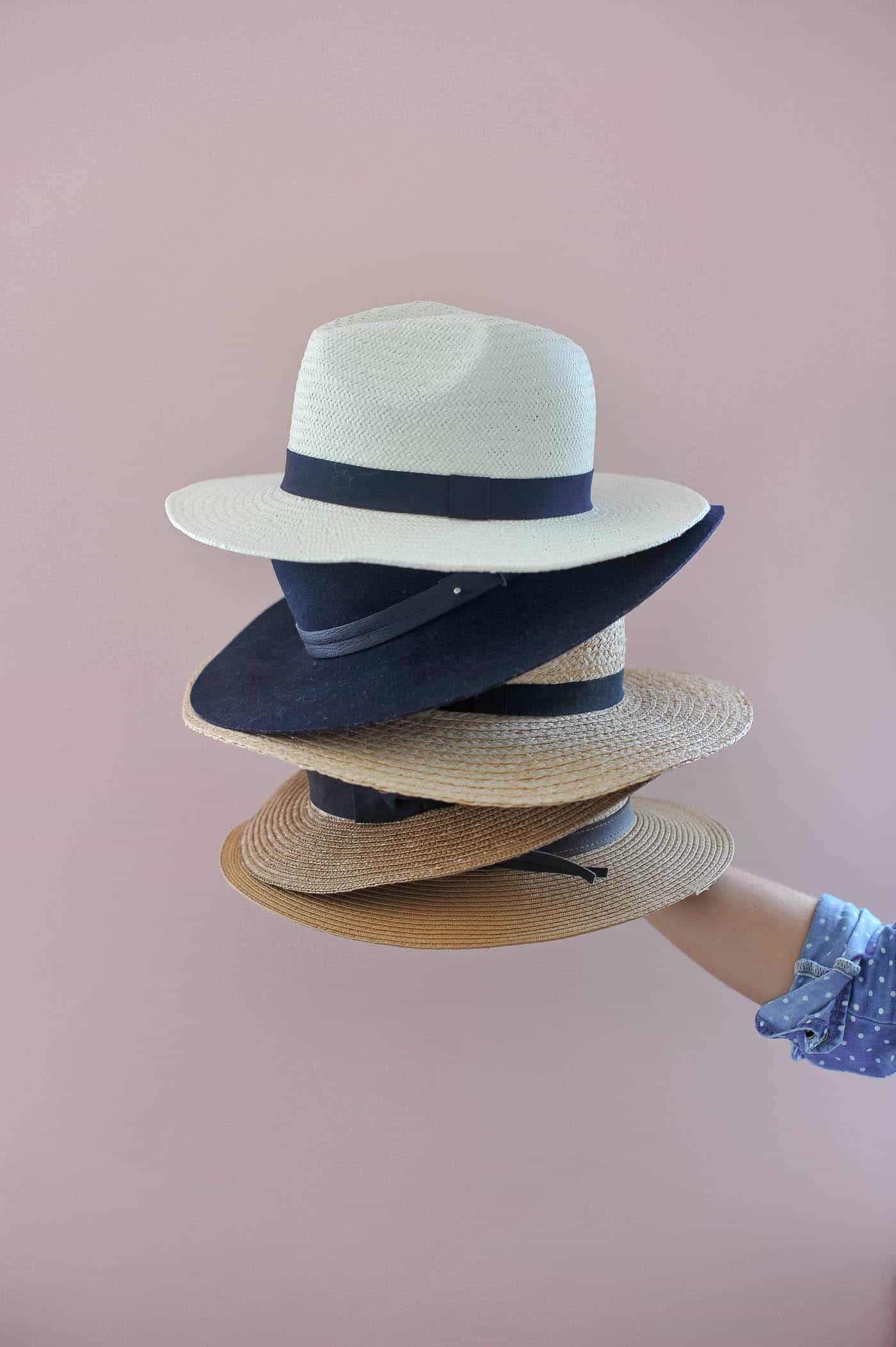 the must have hats every fashion it girl should own, stack of hats - My Style Vita @mystylevita