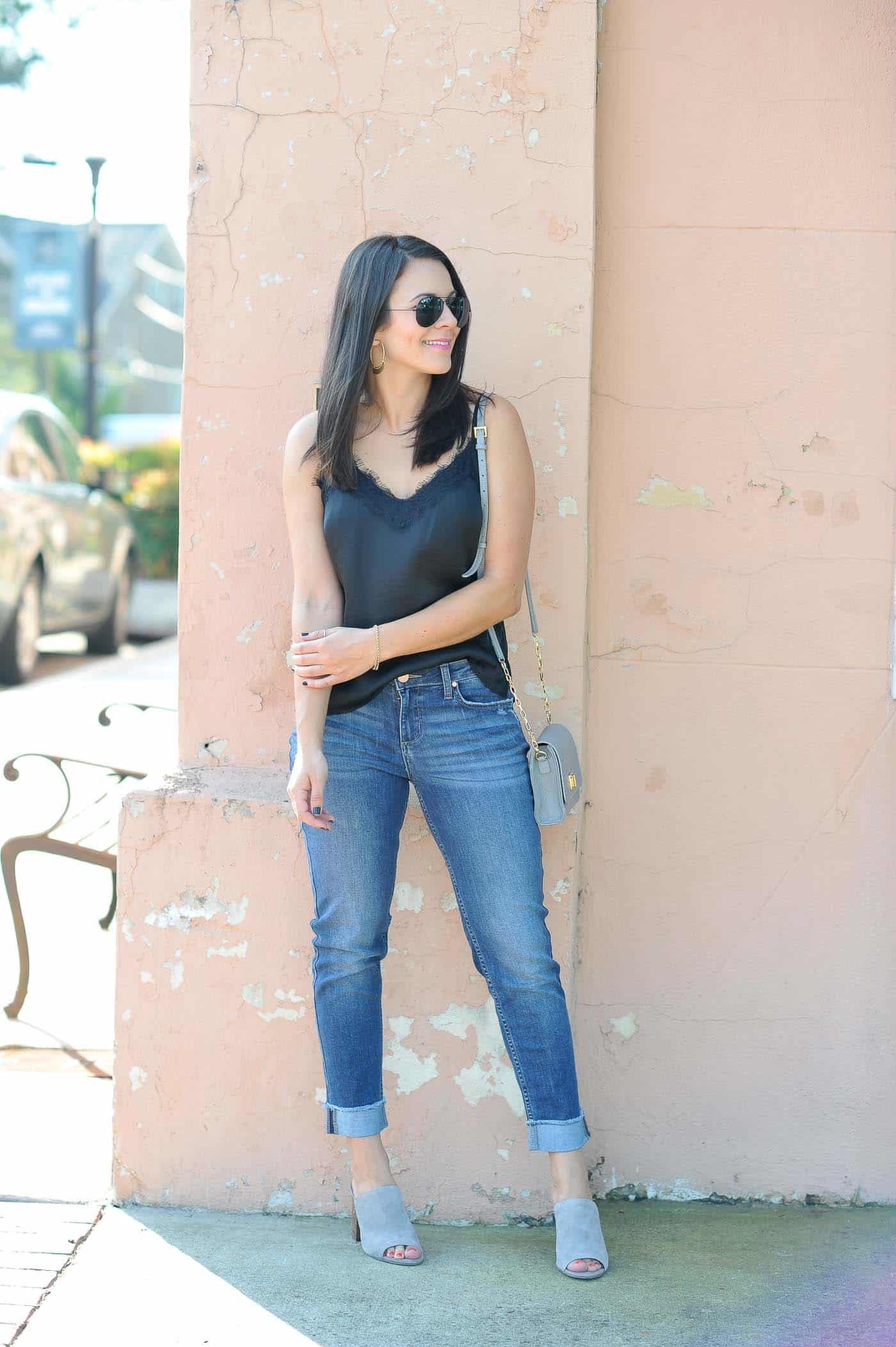 affordable jeans that fit well, jeans and lace tank - My Style Vita @mystylevita
