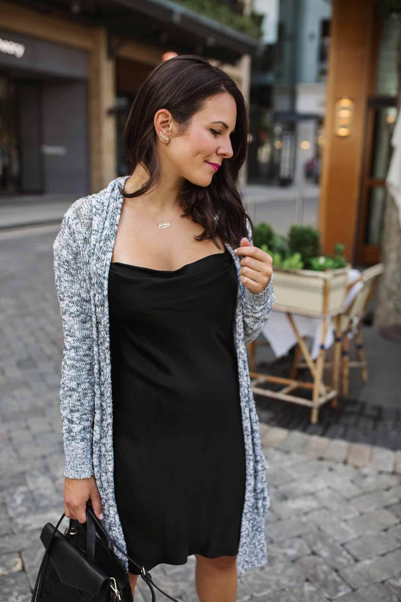 Express white slip dress