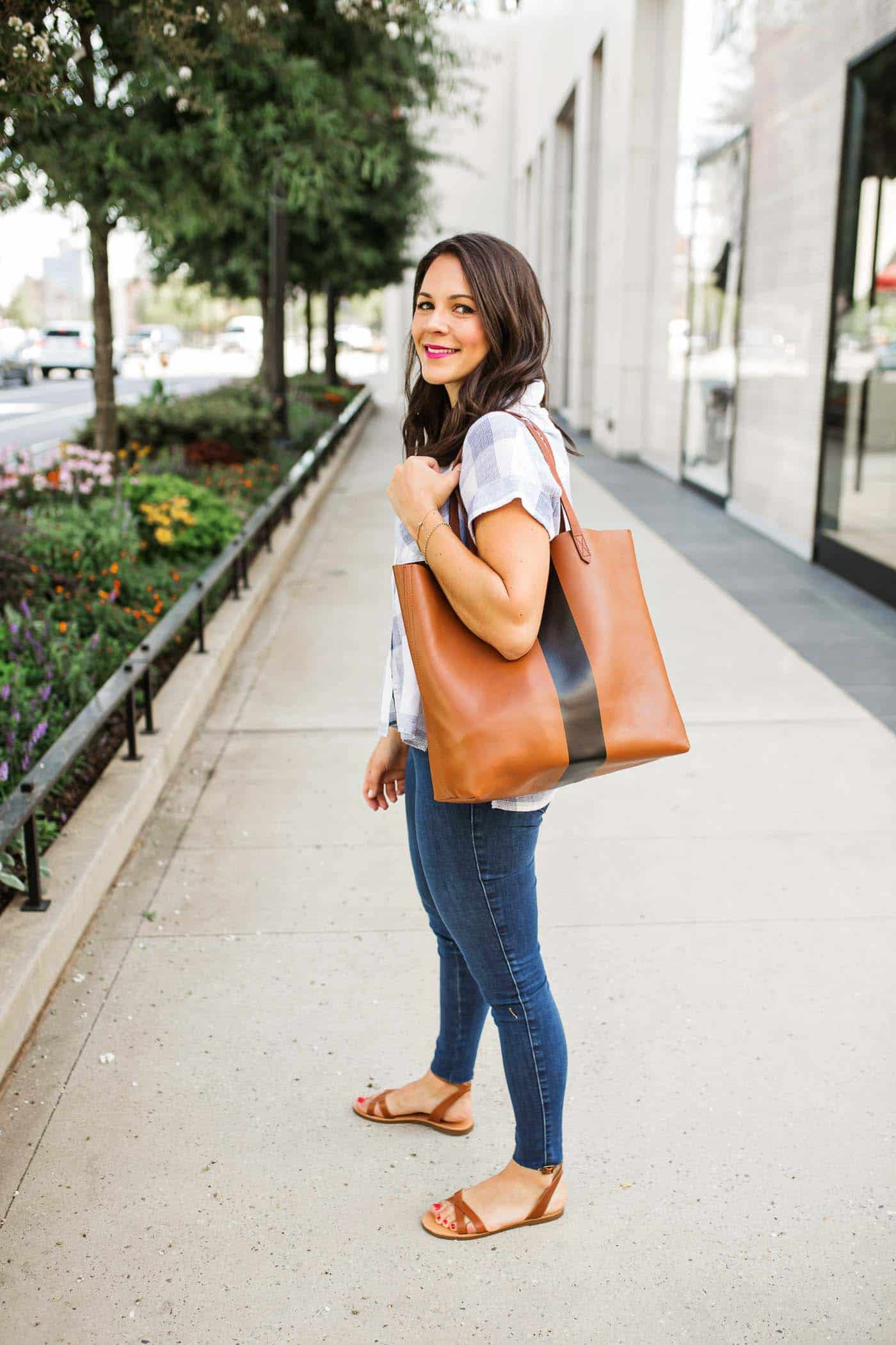 My Style Vita shares ways to style your Madewell Transport Tote