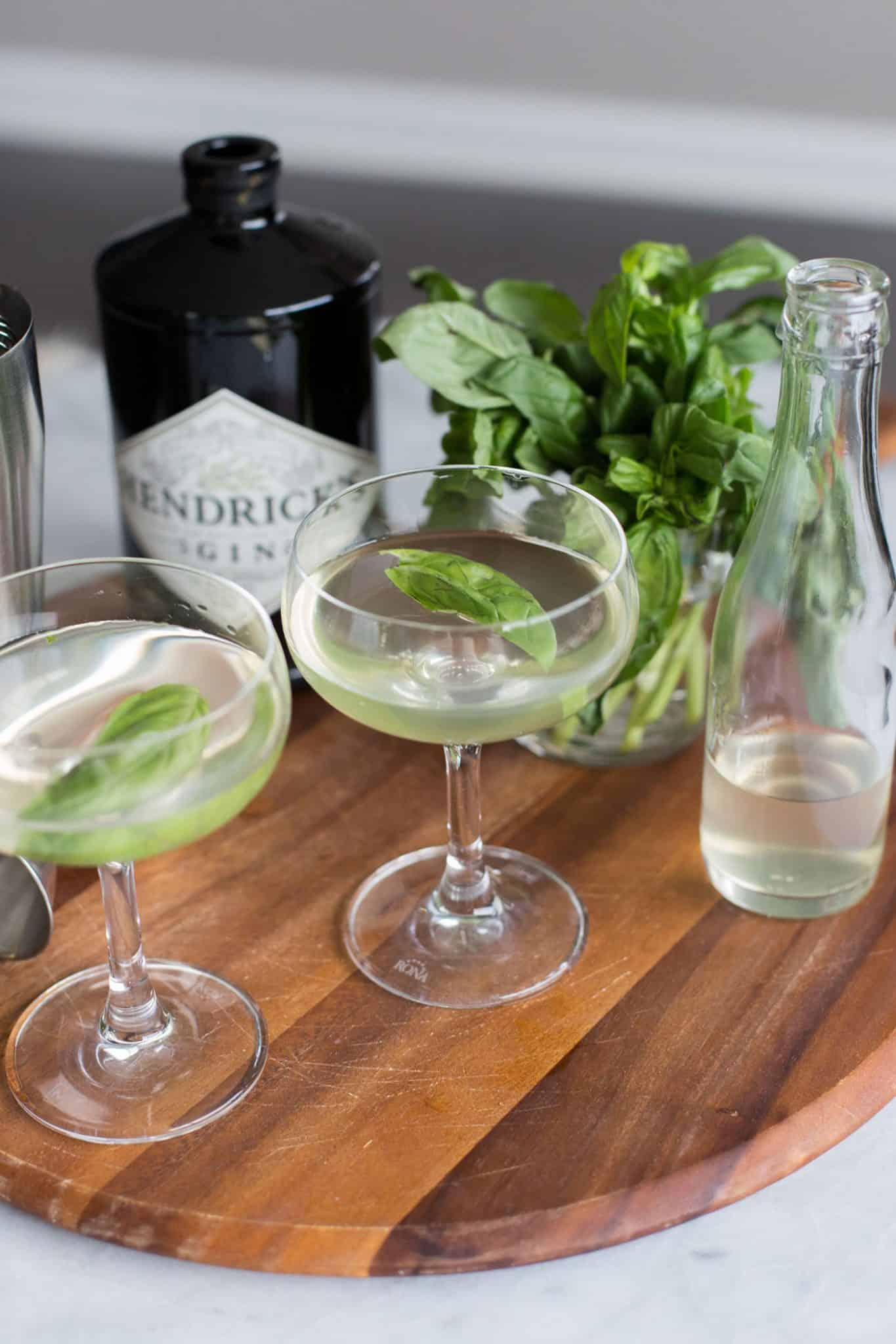coconut basil gimlet, cocktail ideas, cocktail recipes - My Style Vita @mystylevita