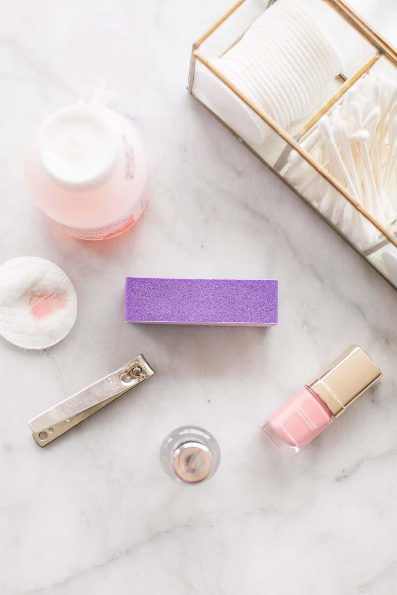 essentials for an at home manicure and how to do it
