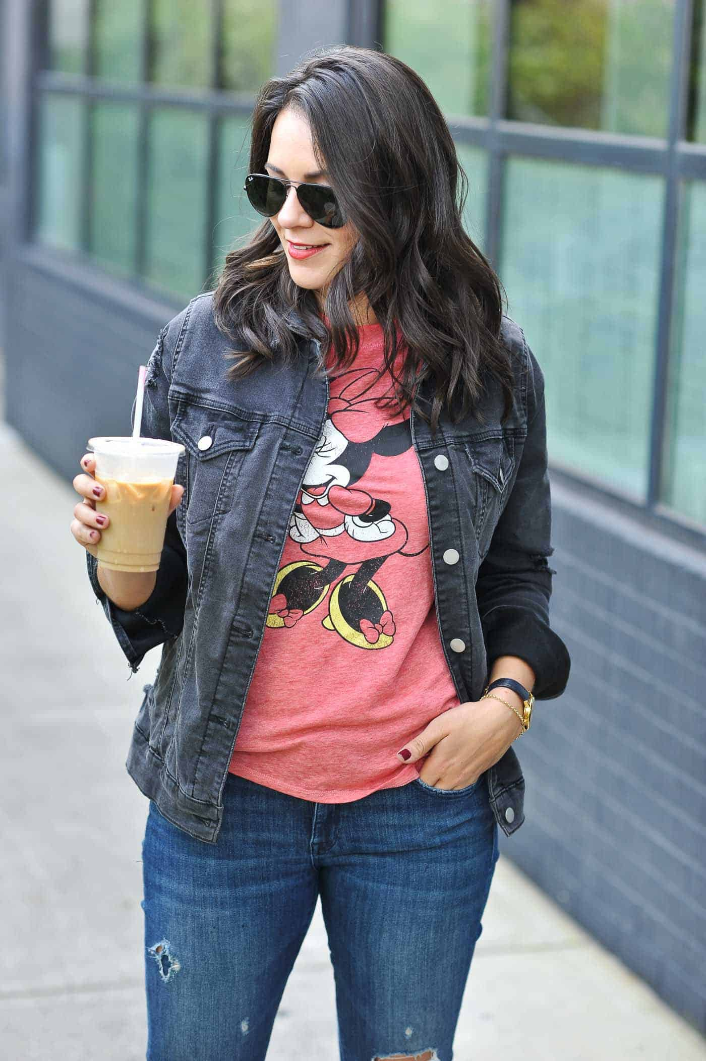 Minnie Mouse Graphic Tee, casual weekend outfit- My Style Vita @mystylevita