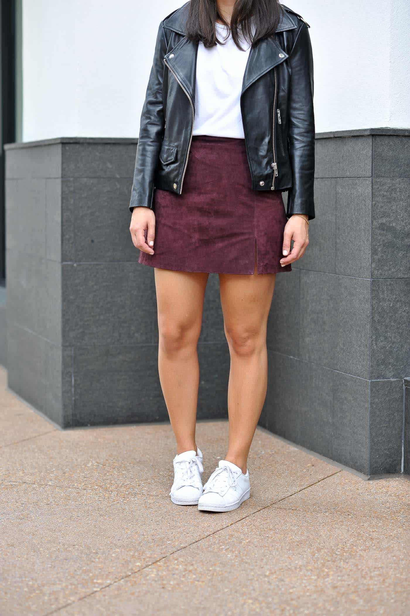 Styling Adidas For Fall With A Mini Skirt, Adidas outfit ideas - My Style Vita @mystylevita