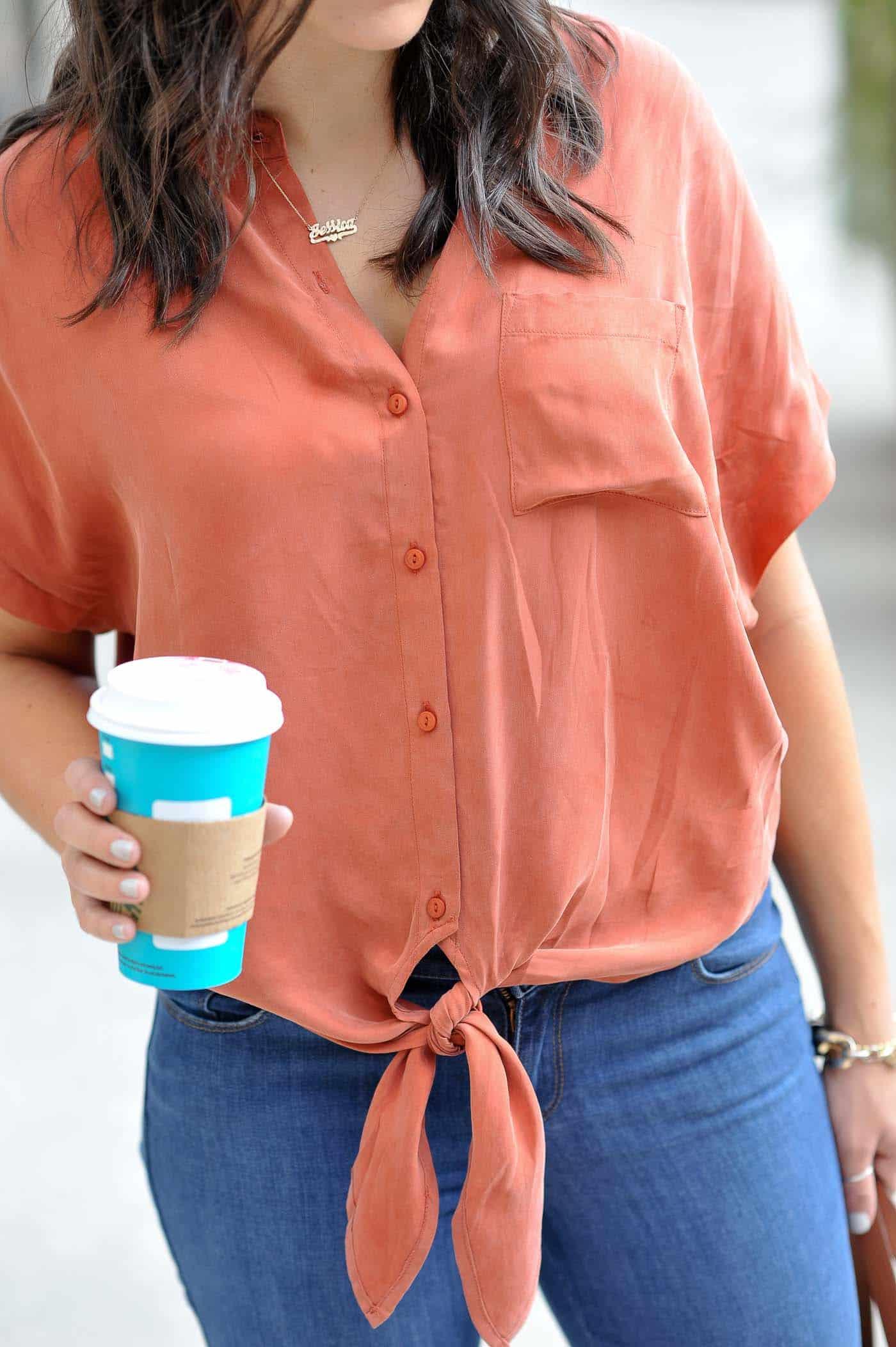 Button down shirt, cute shirts for fall - My Style Vita @mystylevita