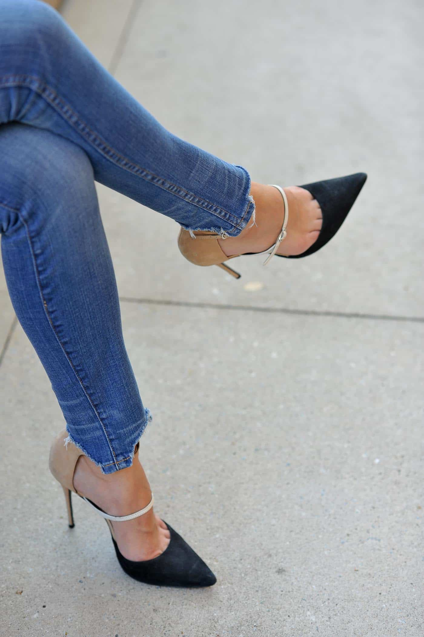 high heels, shoes, shoe shot, shoe crush, denim, jeans, outfits - My Style Vita @mystylevita