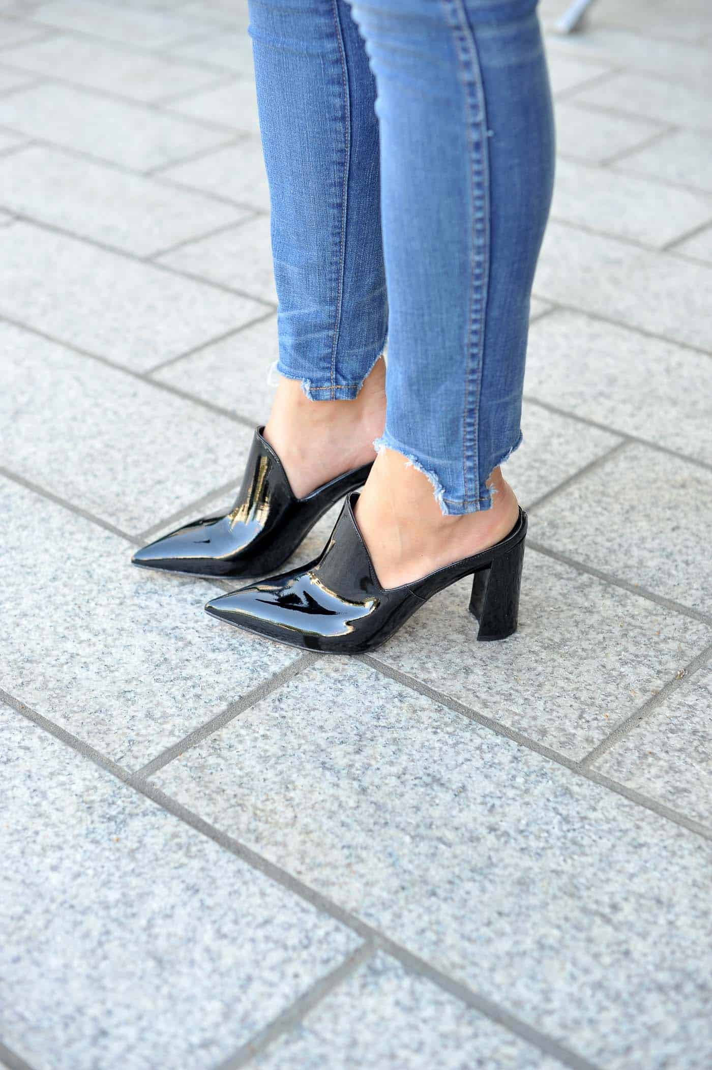 best affordable mules for fall, black patent mules, marc fisher heels - My Style Vita @mystylevita