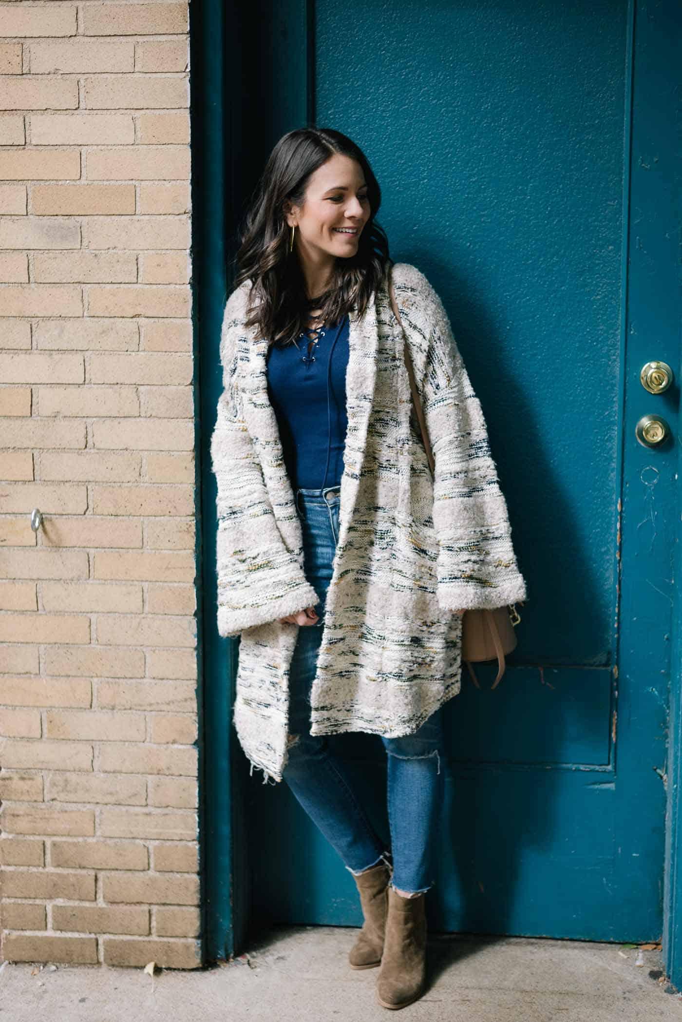 anthropologie cardigan, fall outfit ideas - My Style Vita @mystylevita