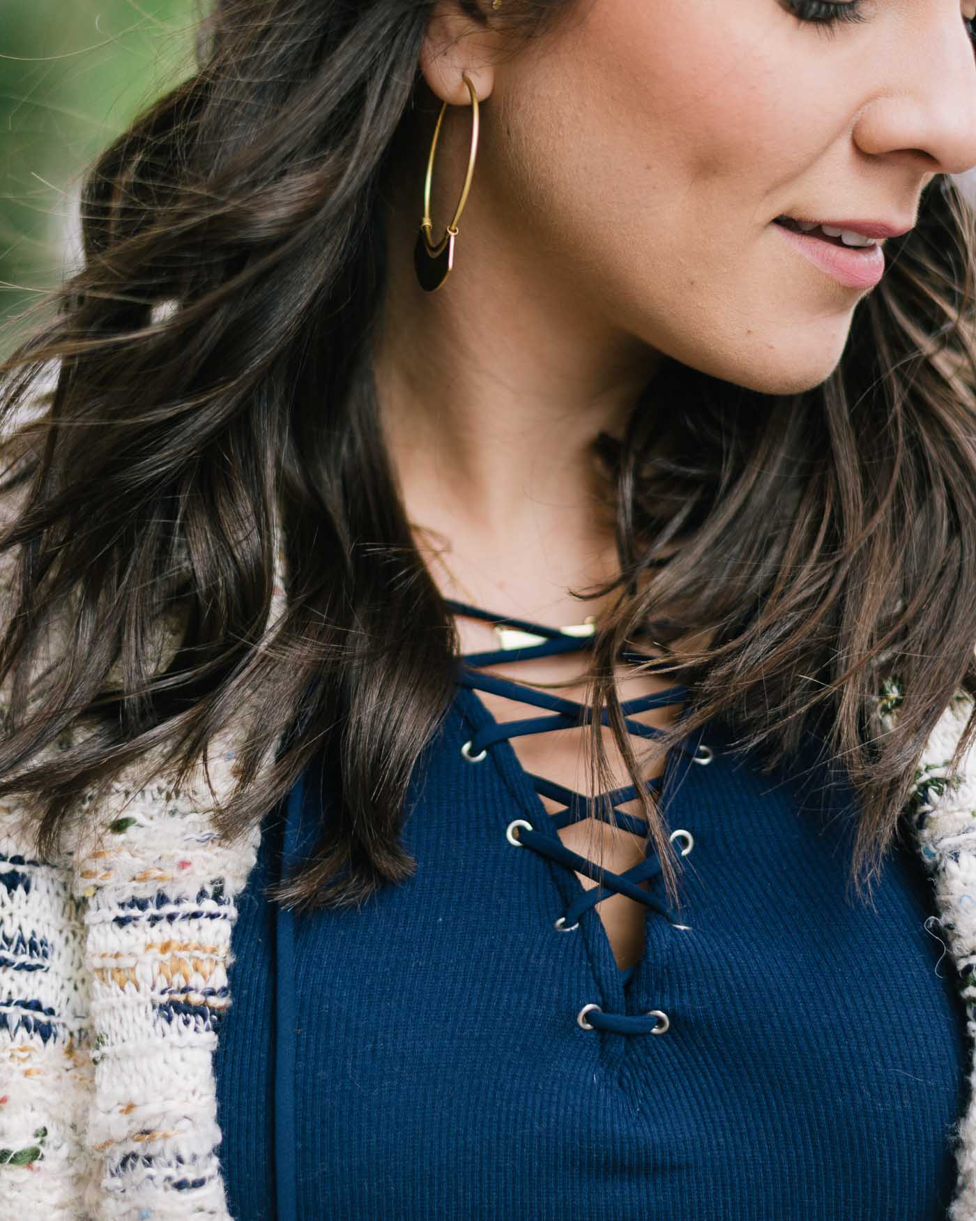lace up top, womens fashion, fall fashion - My Style Vita @mystylevita