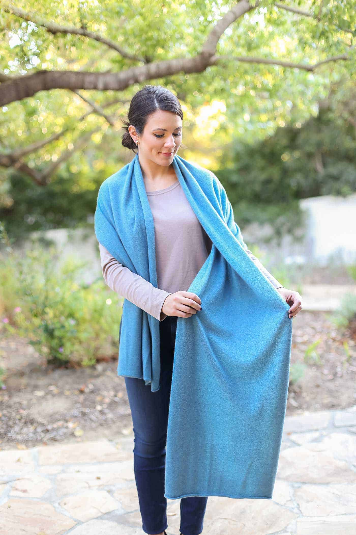 how to wear a pashmina wrap, 4 ways to tie a scarf, how to wear a blanket scarf, fall outfits - My Style Vita @mystylevita