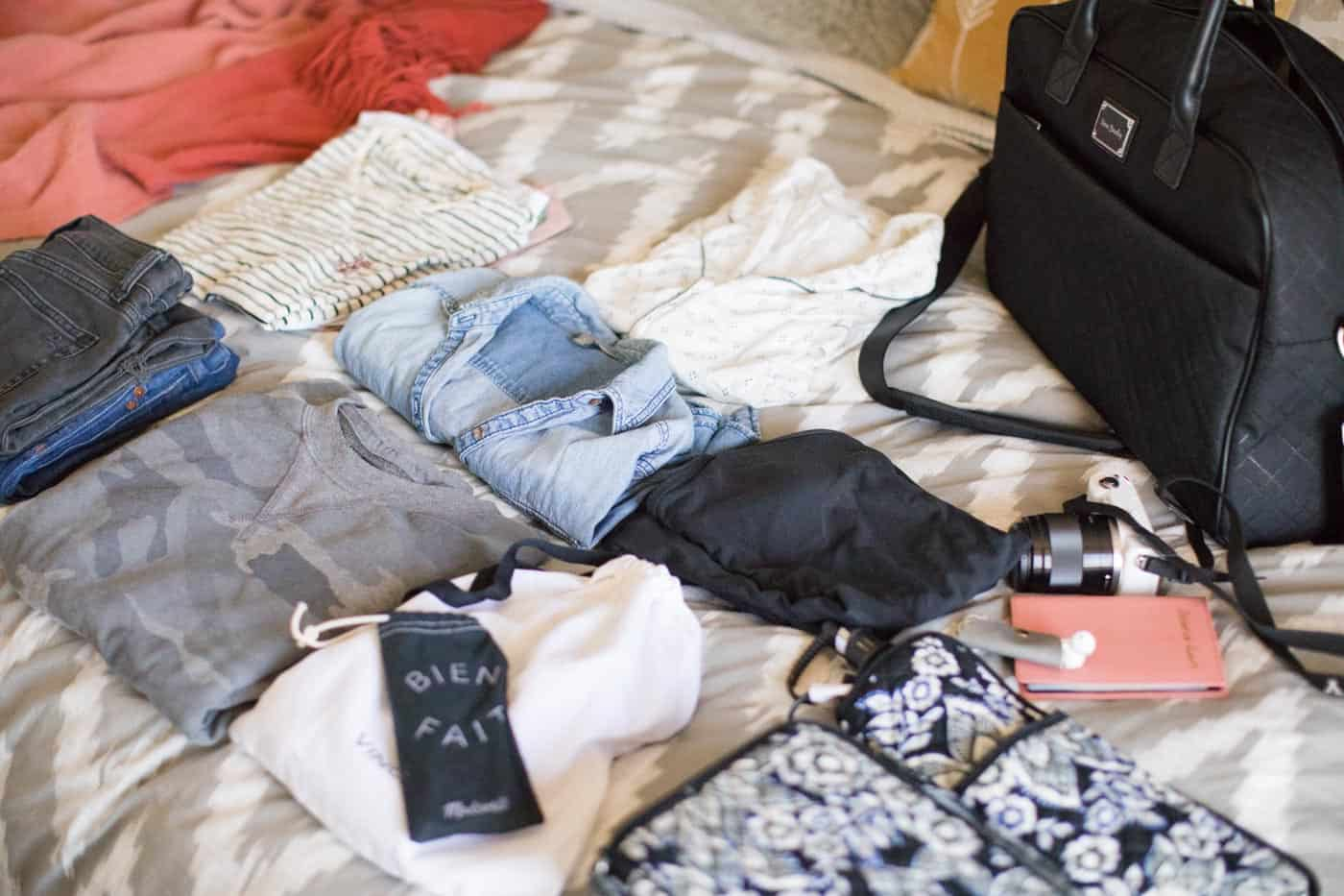 packing tips and travel bags