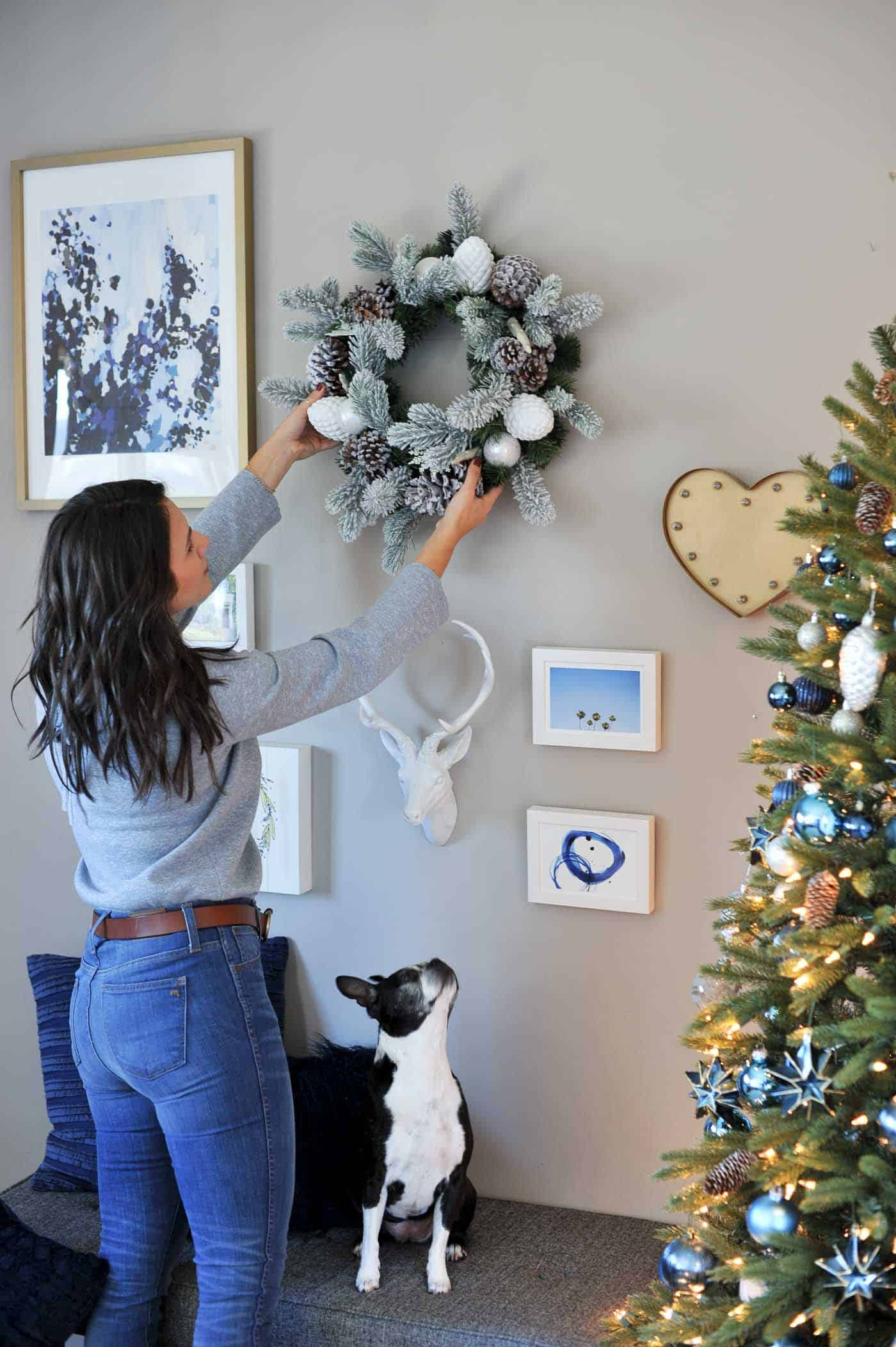 having the pinecones is a nice touch and adds some different texture throughout the tree - Blue Grey Christmas Decorations