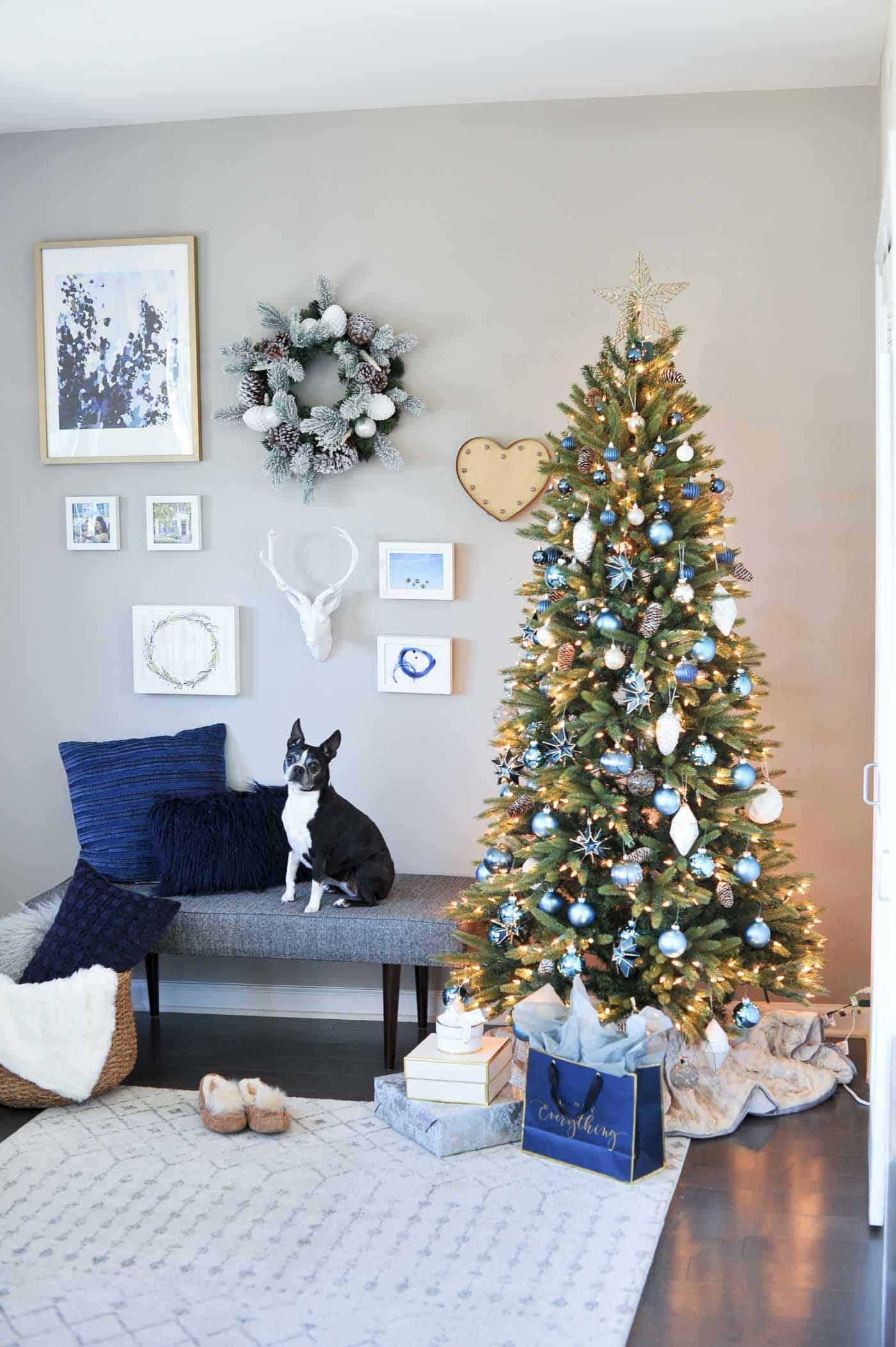 monochromatic christmas tree ideas blue christmas decor ideas \u2013 My Style Vita @mystylevita-8 & monochromatic christmas tree ideas blue christmas decor ideas - My ...