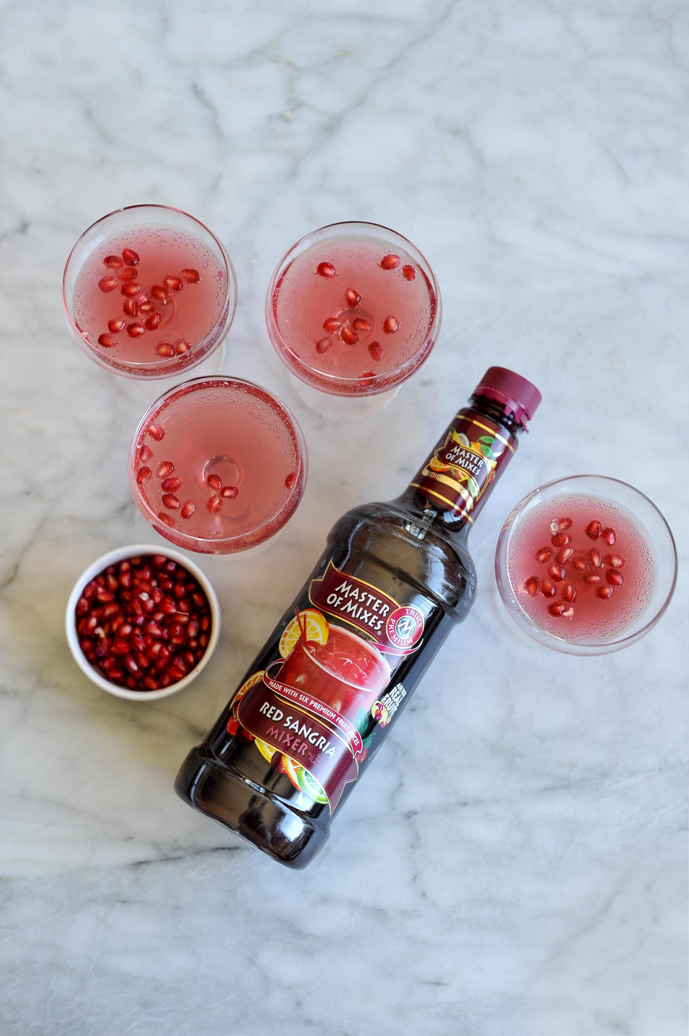 pomegranate cocktail recipe, holiday entertaining ideas - My Style Vita