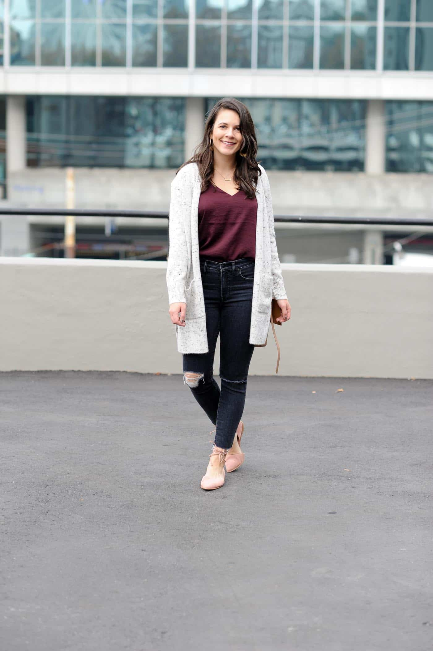 a madewell cardigan outfit for lazy days  my style vita