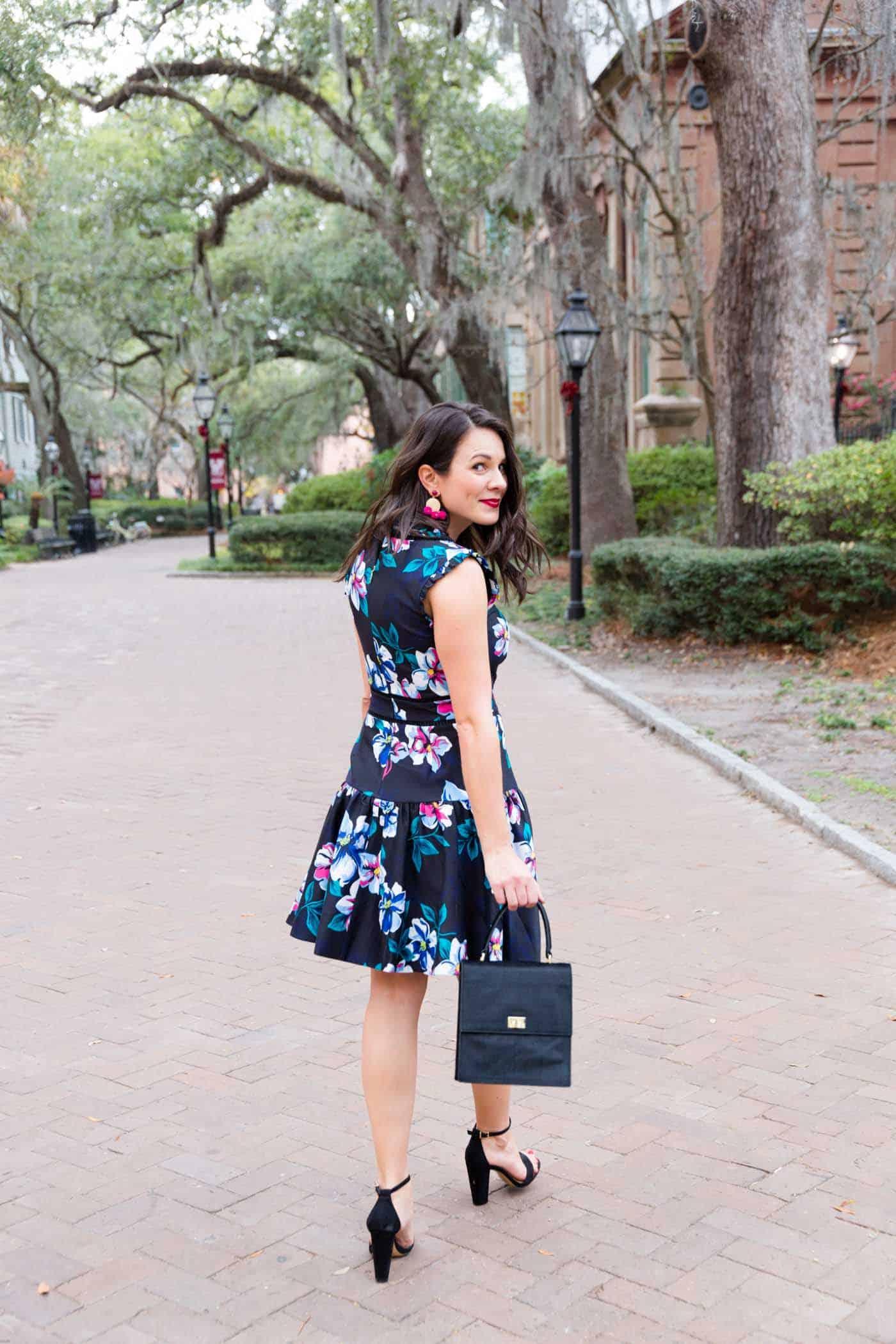 Draper James Dorothy Floral Dress Charleston Style Southern Fashion Blog My Style Vita