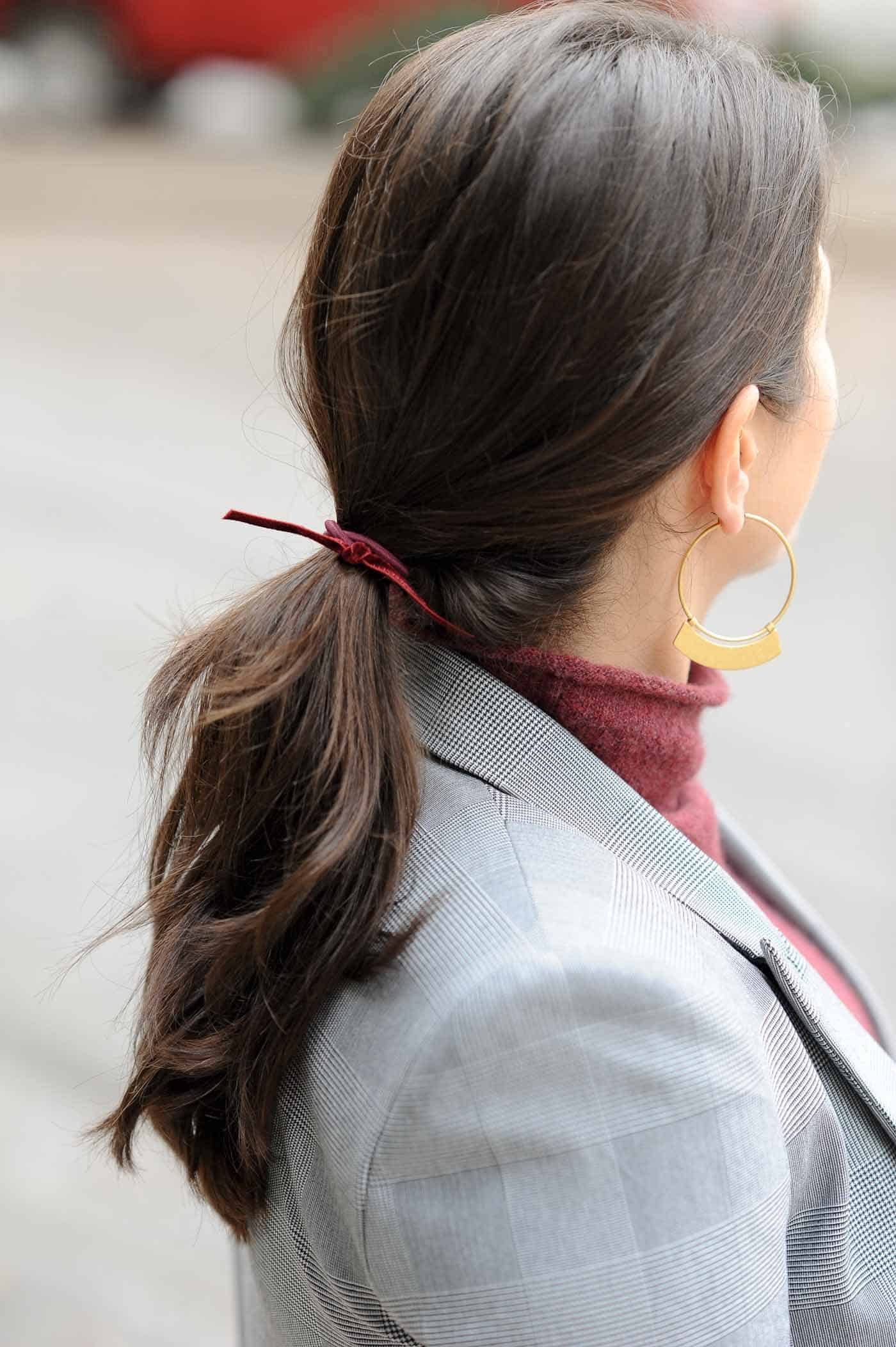 simple hairties, fun ways to dress up a ponytail - My Style Vita @mystylevita
